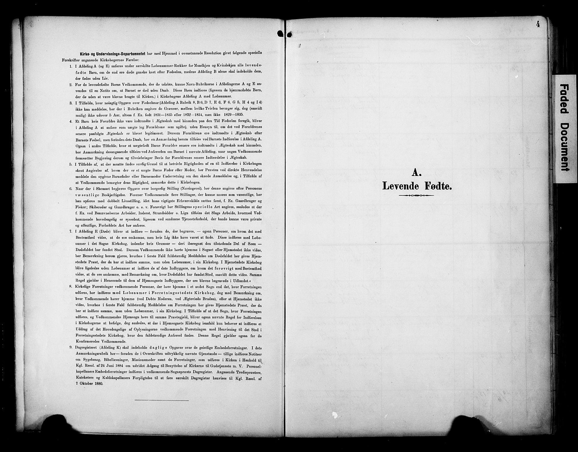 SAT, Ministerialprotokoller, klokkerbøker og fødselsregistre - Sør-Trøndelag, 695/L1149: Ministerialbok nr. 695A09, 1891-1902, s. 4