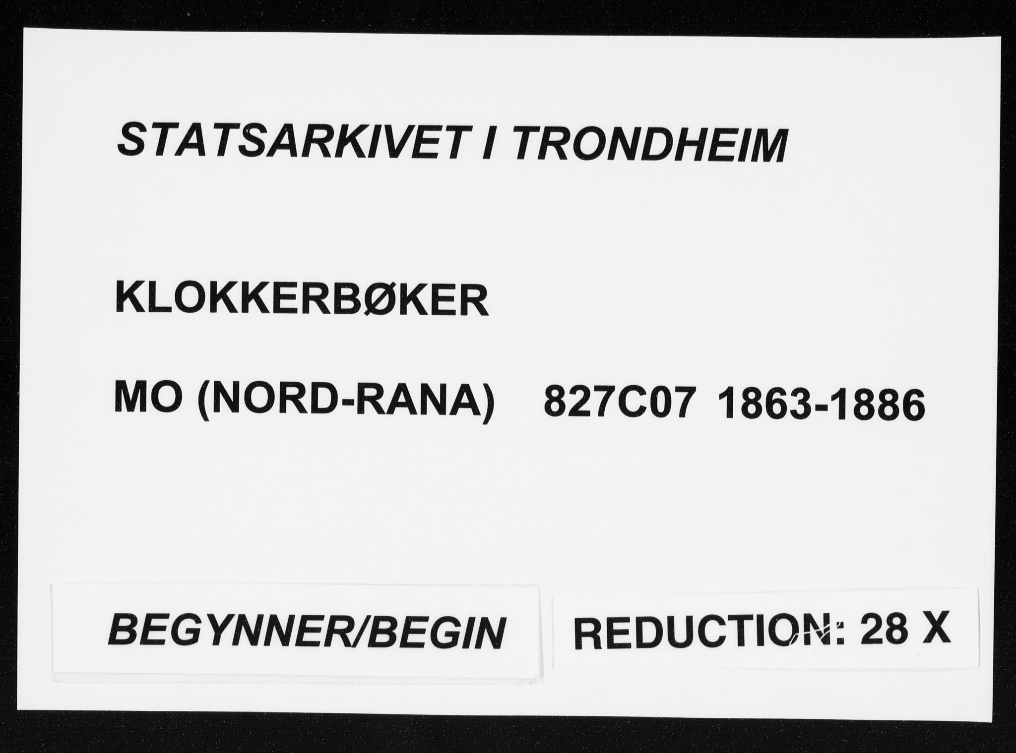 SAT, Ministerialprotokoller, klokkerbøker og fødselsregistre - Nordland, 827/L0418: Klokkerbok nr. 827C07, 1863-1886