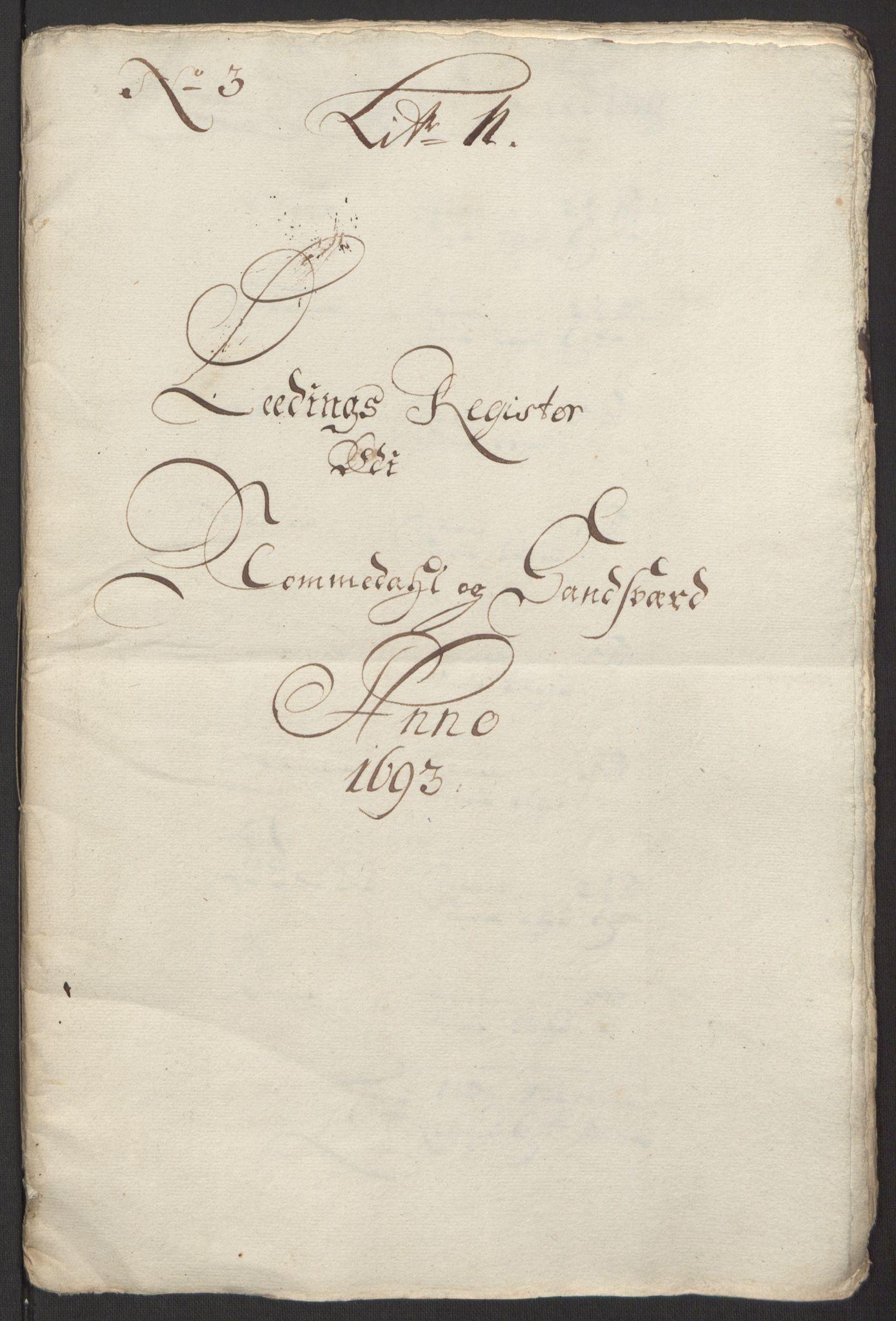 RA, Rentekammeret inntil 1814, Reviderte regnskaper, Fogderegnskap, R24/L1575: Fogderegnskap Numedal og Sandsvær, 1692-1695, s. 127