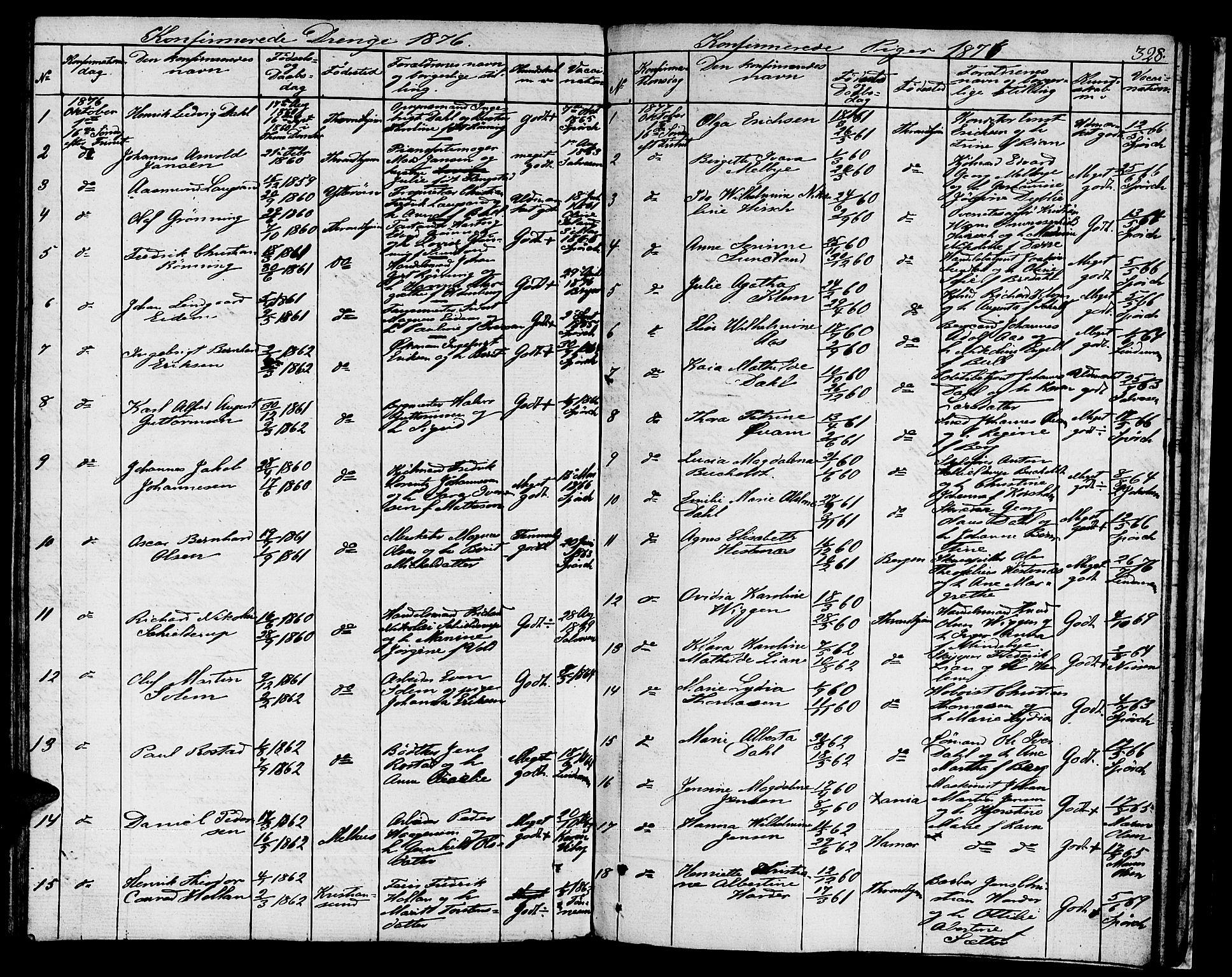 SAT, Ministerialprotokoller, klokkerbøker og fødselsregistre - Sør-Trøndelag, 601/L0070: Residerende kapellans bok nr. 601B03, 1821-1881, s. 328