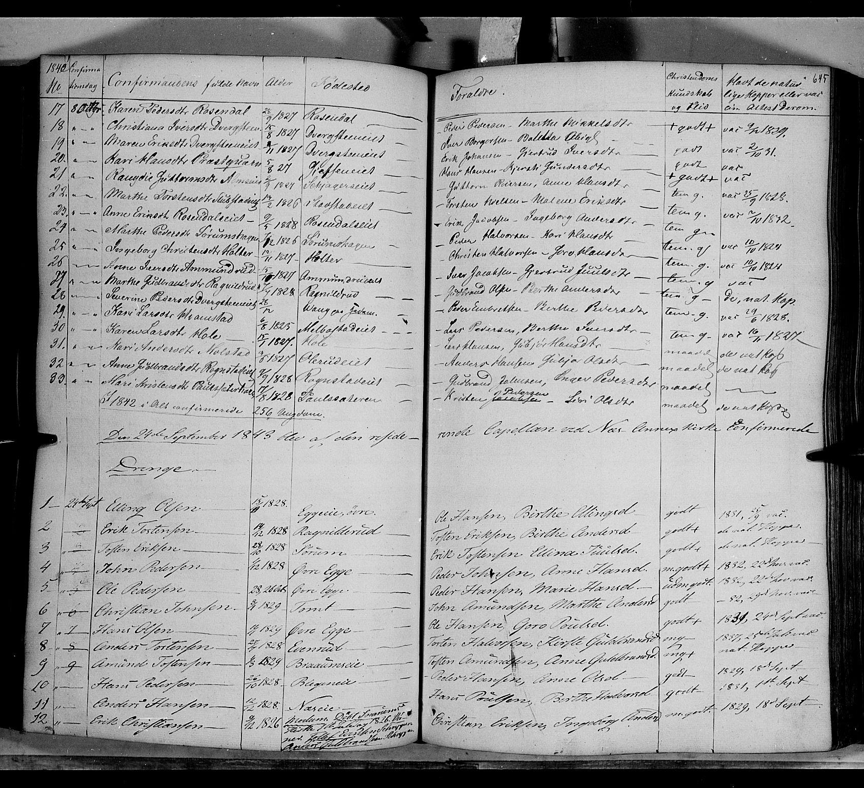 SAH, Gran prestekontor, Ministerialbok nr. 11, 1842-1856, s. 644-645