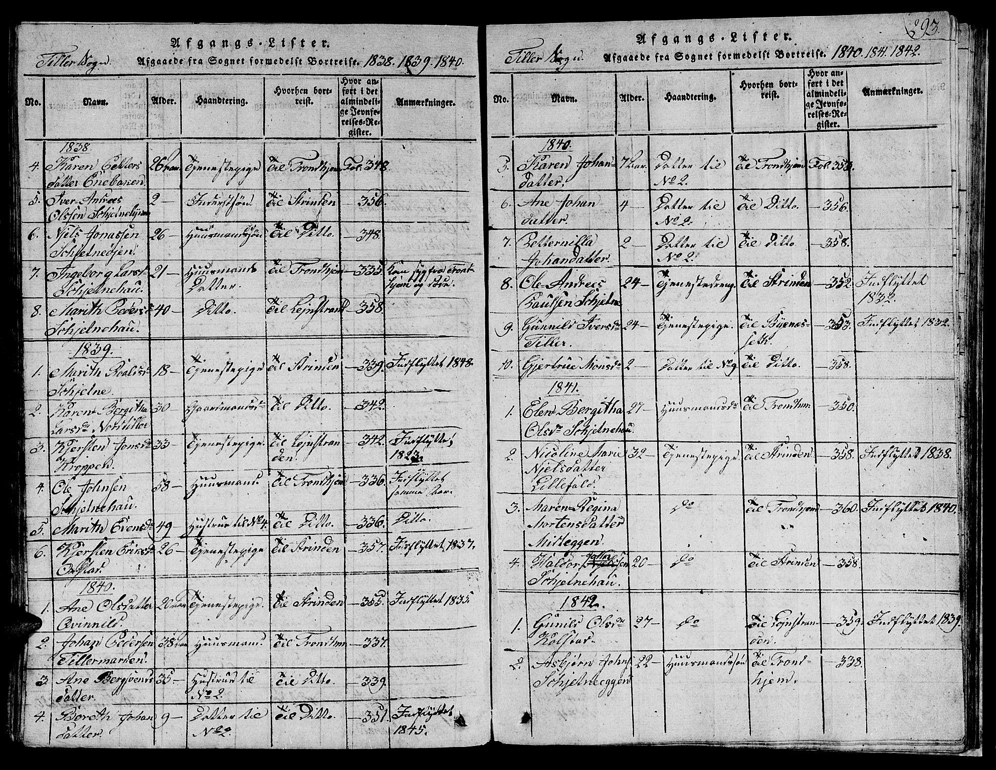 SAT, Ministerialprotokoller, klokkerbøker og fødselsregistre - Sør-Trøndelag, 621/L0458: Klokkerbok nr. 621C01, 1816-1865, s. 293