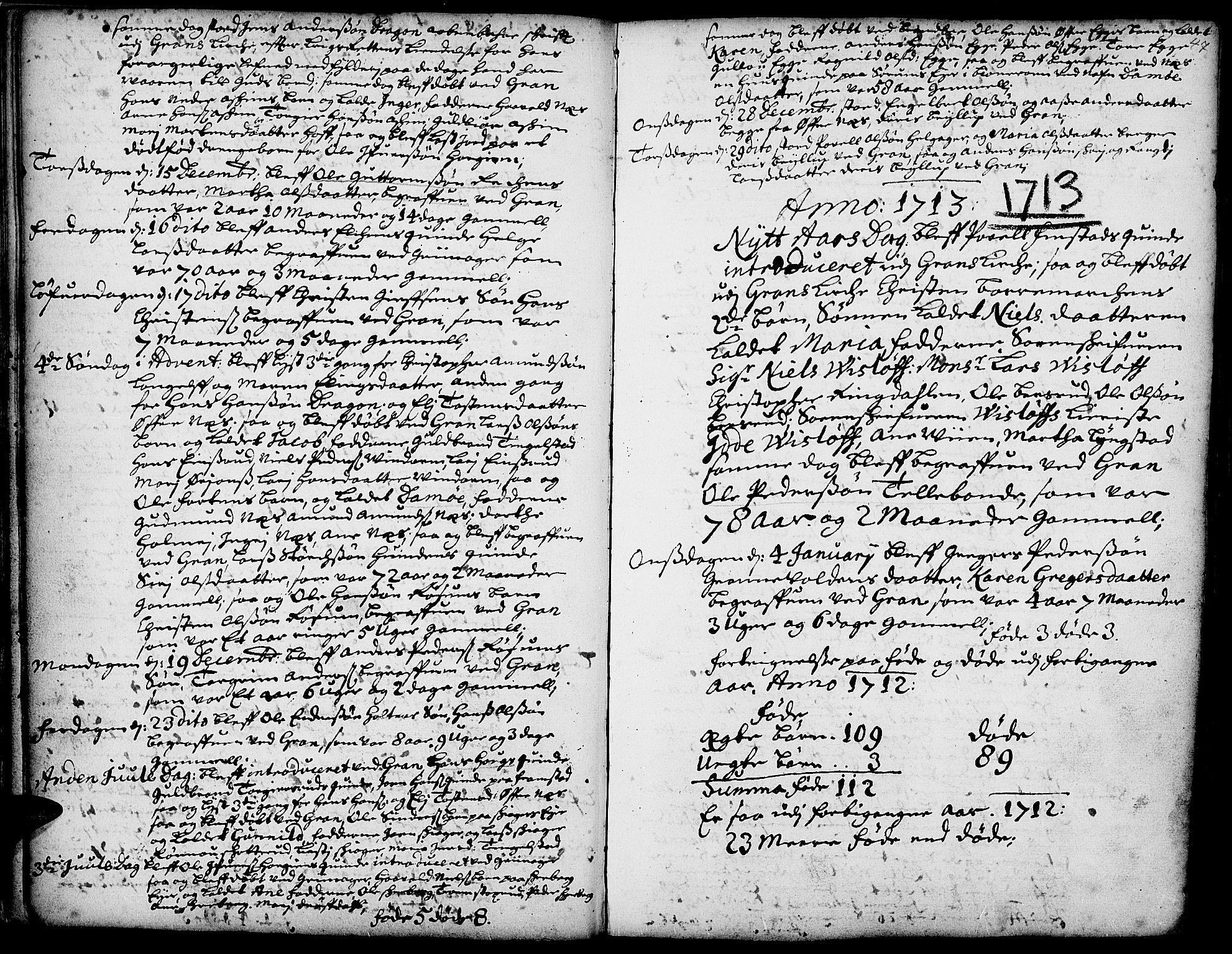 SAH, Gran prestekontor, Ministerialbok nr. 1, 1707-1731, s. 47
