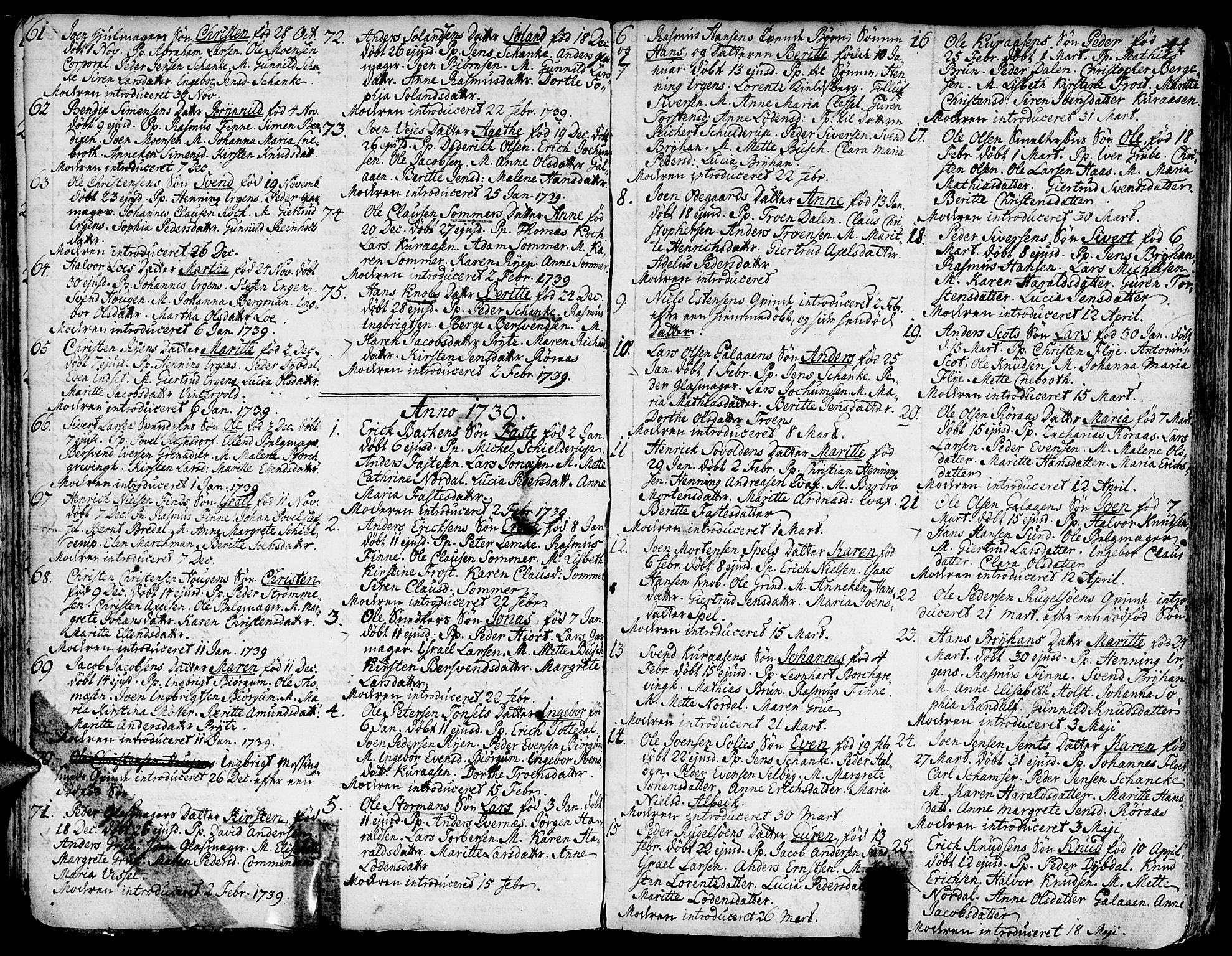 SAT, Ministerialprotokoller, klokkerbøker og fødselsregistre - Sør-Trøndelag, 681/L0925: Ministerialbok nr. 681A03, 1727-1766, s. 44