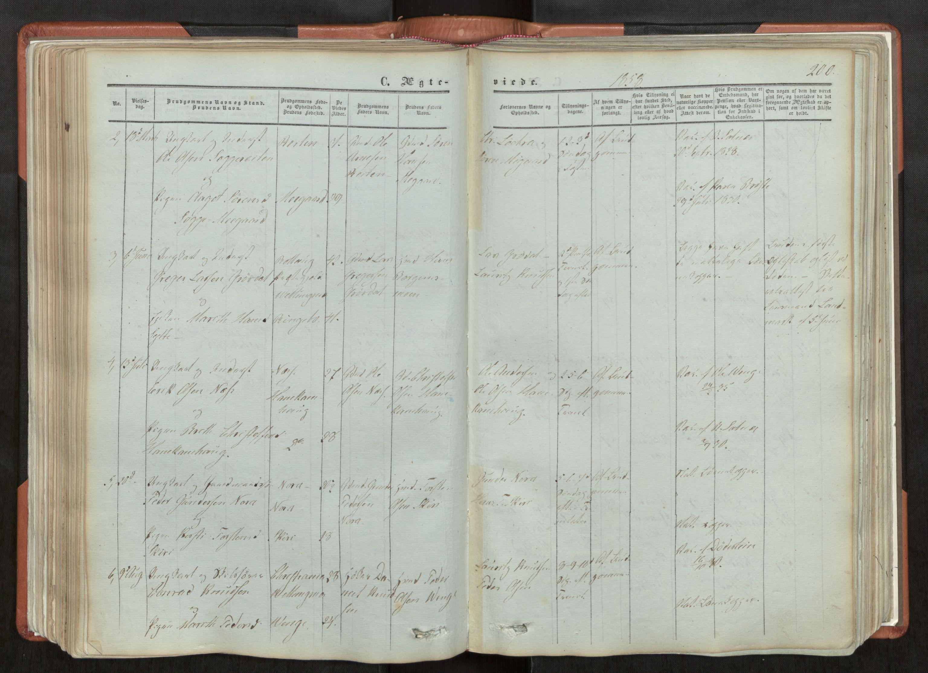 SAT, Ministerialprotokoller, klokkerbøker og fødselsregistre - Møre og Romsdal, 544/L0572: Ministerialbok nr. 544A05, 1854-1886, s. 200