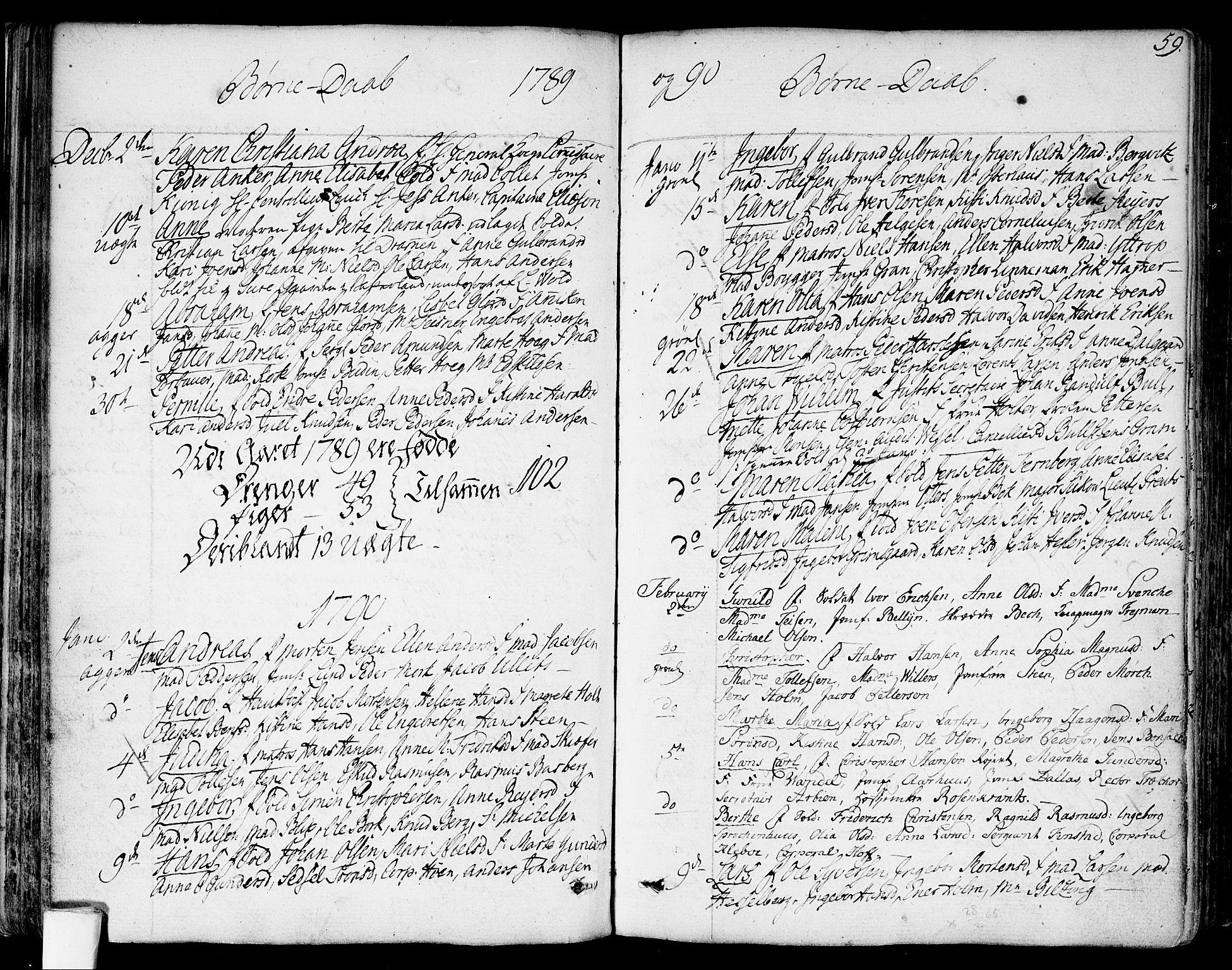 SAO, Garnisonsmenigheten Kirkebøker, F/Fa/L0003: Ministerialbok nr. 3, 1777-1809, s. 59