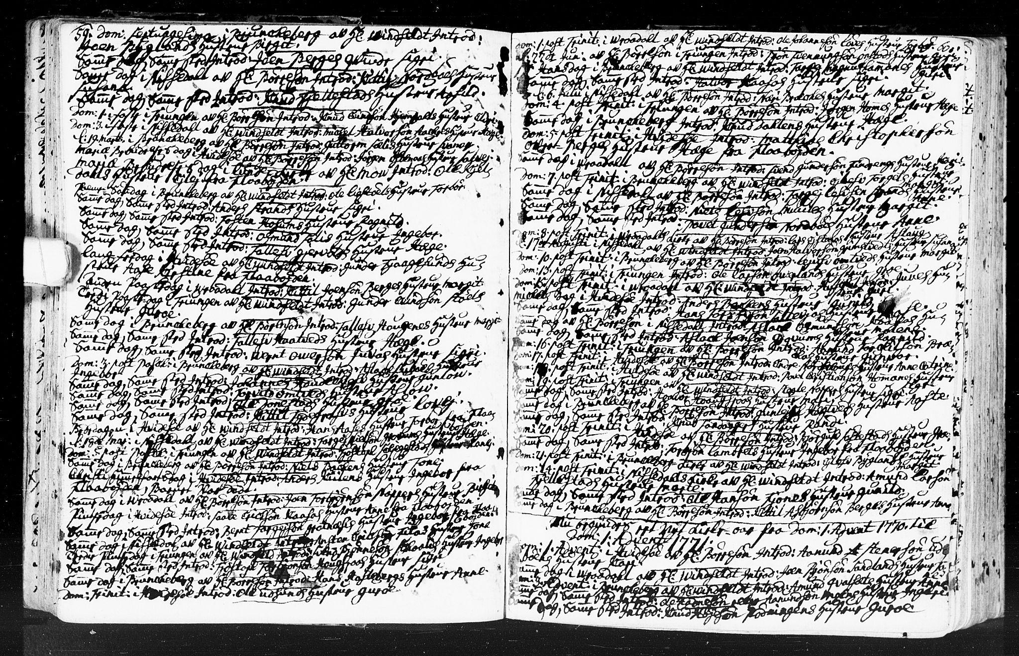 SAKO, Kviteseid kirkebøker, F/Fa/L0001: Ministerialbok nr. I 1, 1754-1773, s. 59-60