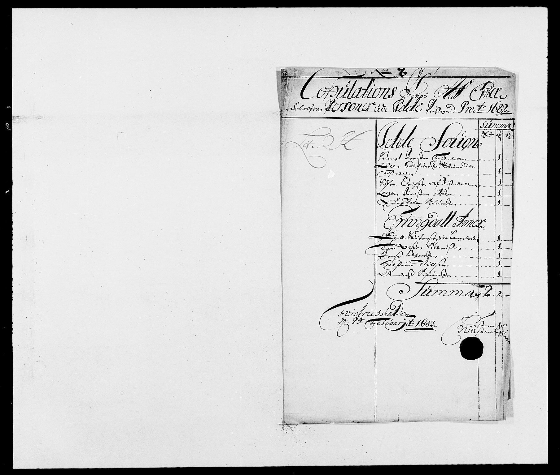RA, Rentekammeret inntil 1814, Reviderte regnskaper, Fogderegnskap, R01/L0004: Fogderegnskap Idd og Marker , 1682-1683, s. 138