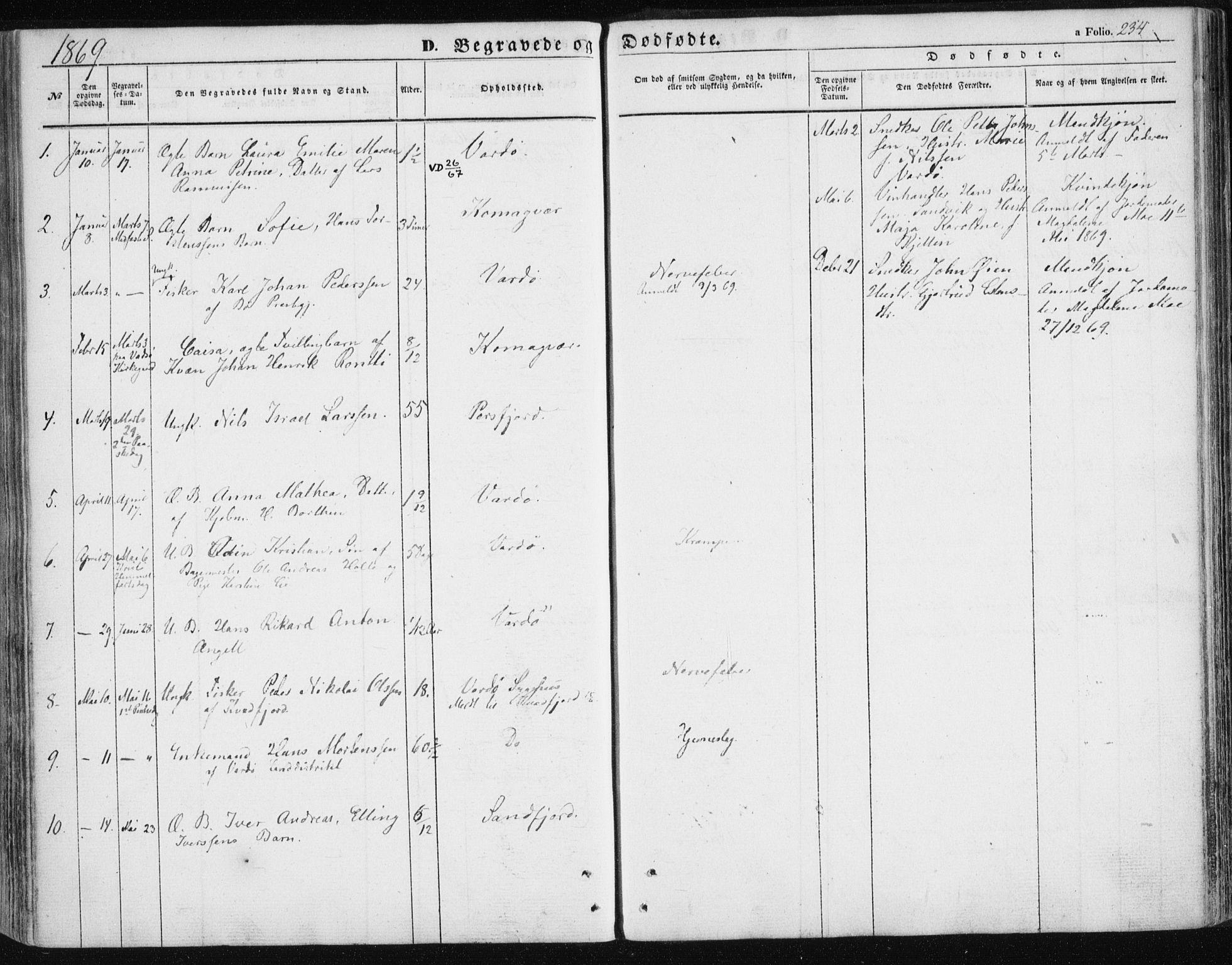 SATØ, Vardø sokneprestkontor, H/Ha/L0004kirke: Ministerialbok nr. 4, 1862-1871, s. 234