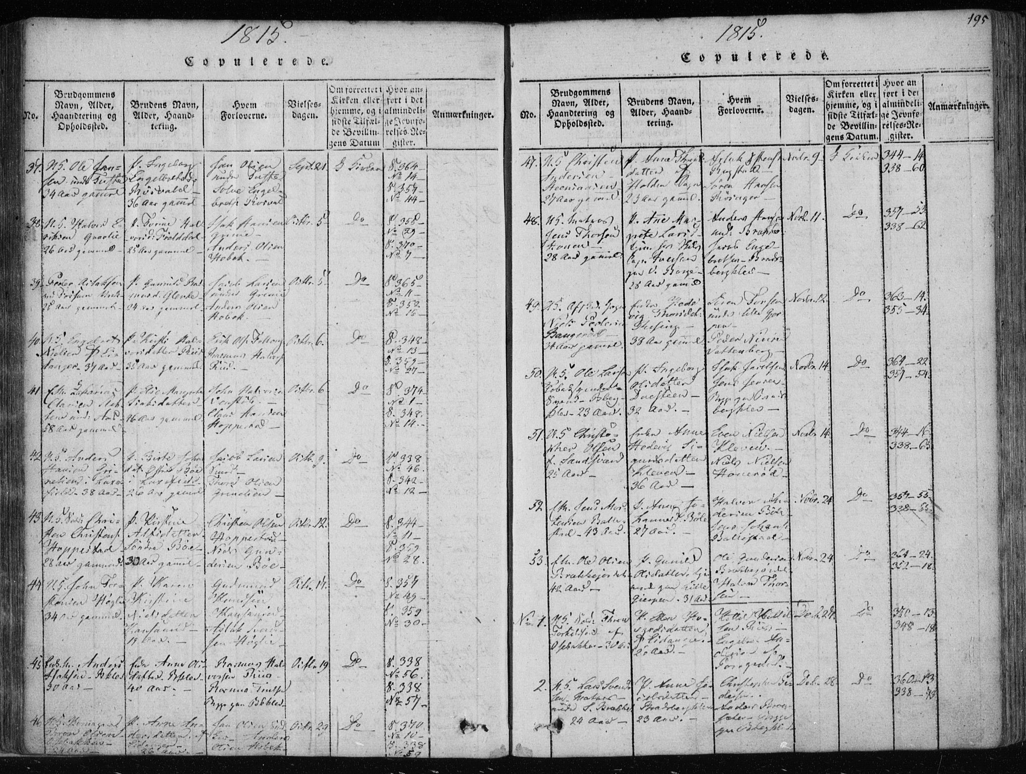 SAKO, Gjerpen kirkebøker, F/Fa/L0004: Ministerialbok nr. 4, 1814-1823, s. 195