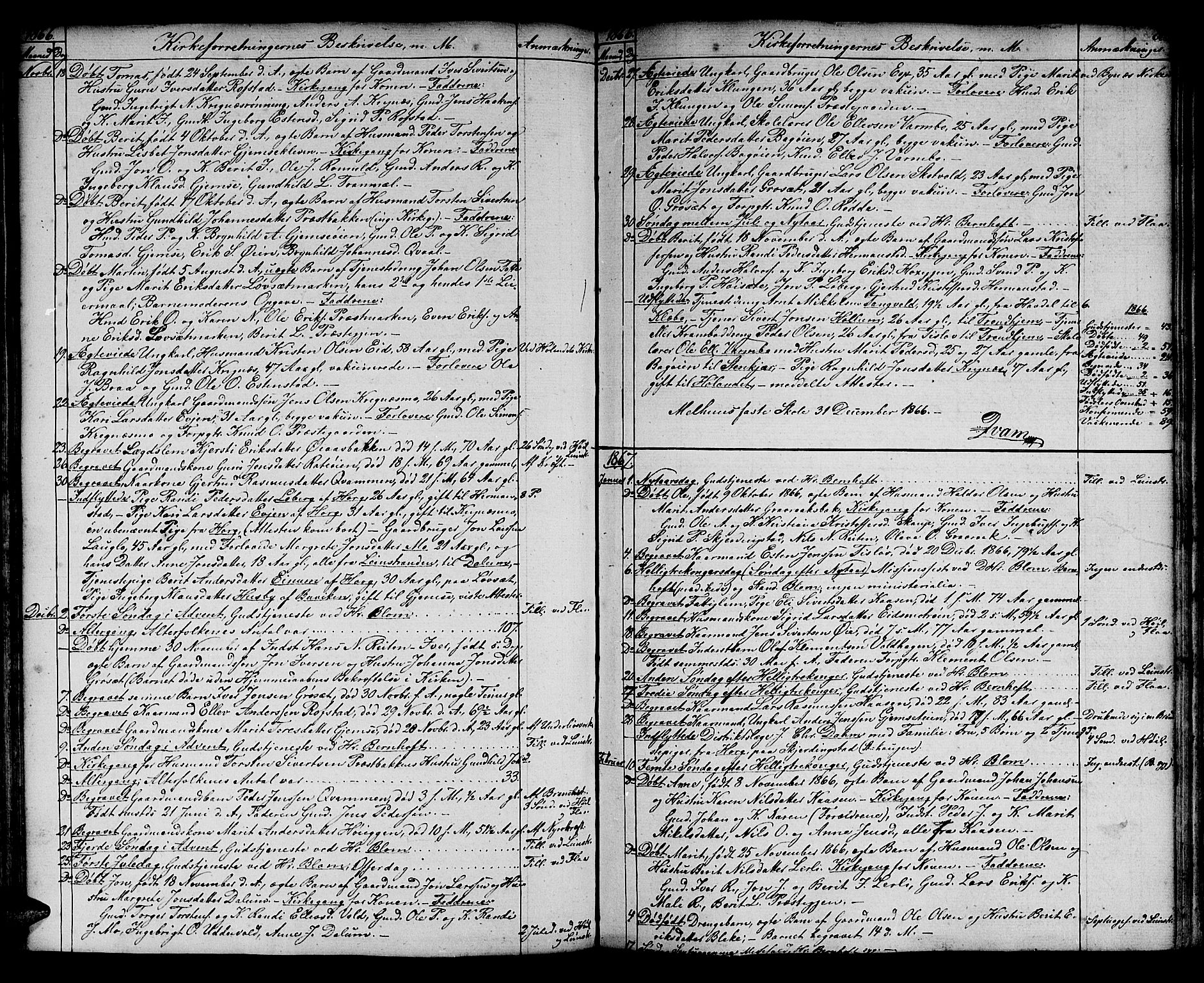 SAT, Ministerialprotokoller, klokkerbøker og fødselsregistre - Sør-Trøndelag, 691/L1093: Klokkerbok nr. 691C04, 1852-1879, s. 88