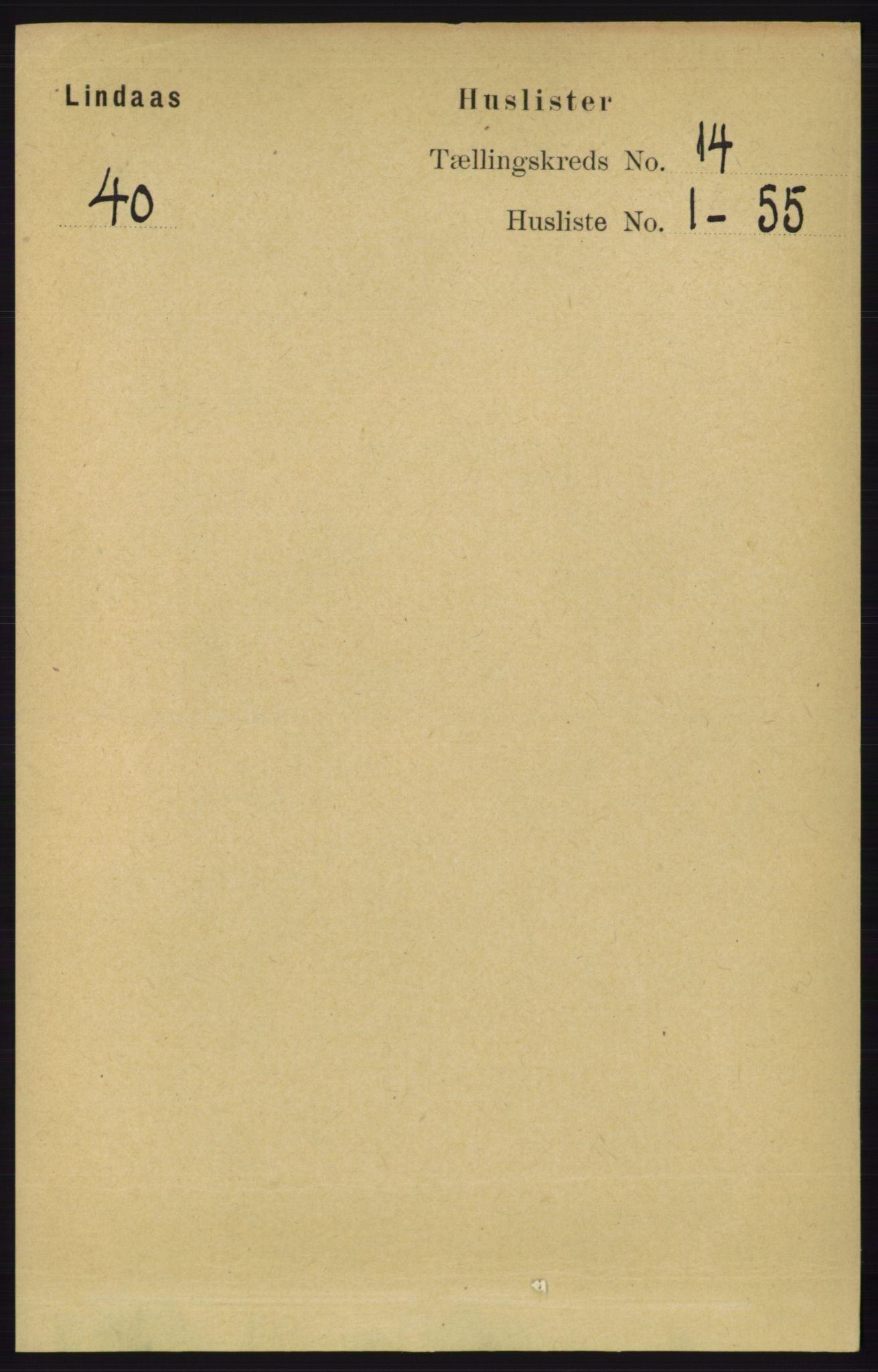 RA, Folketelling 1891 for 1263 Lindås herred, 1891, s. 4835