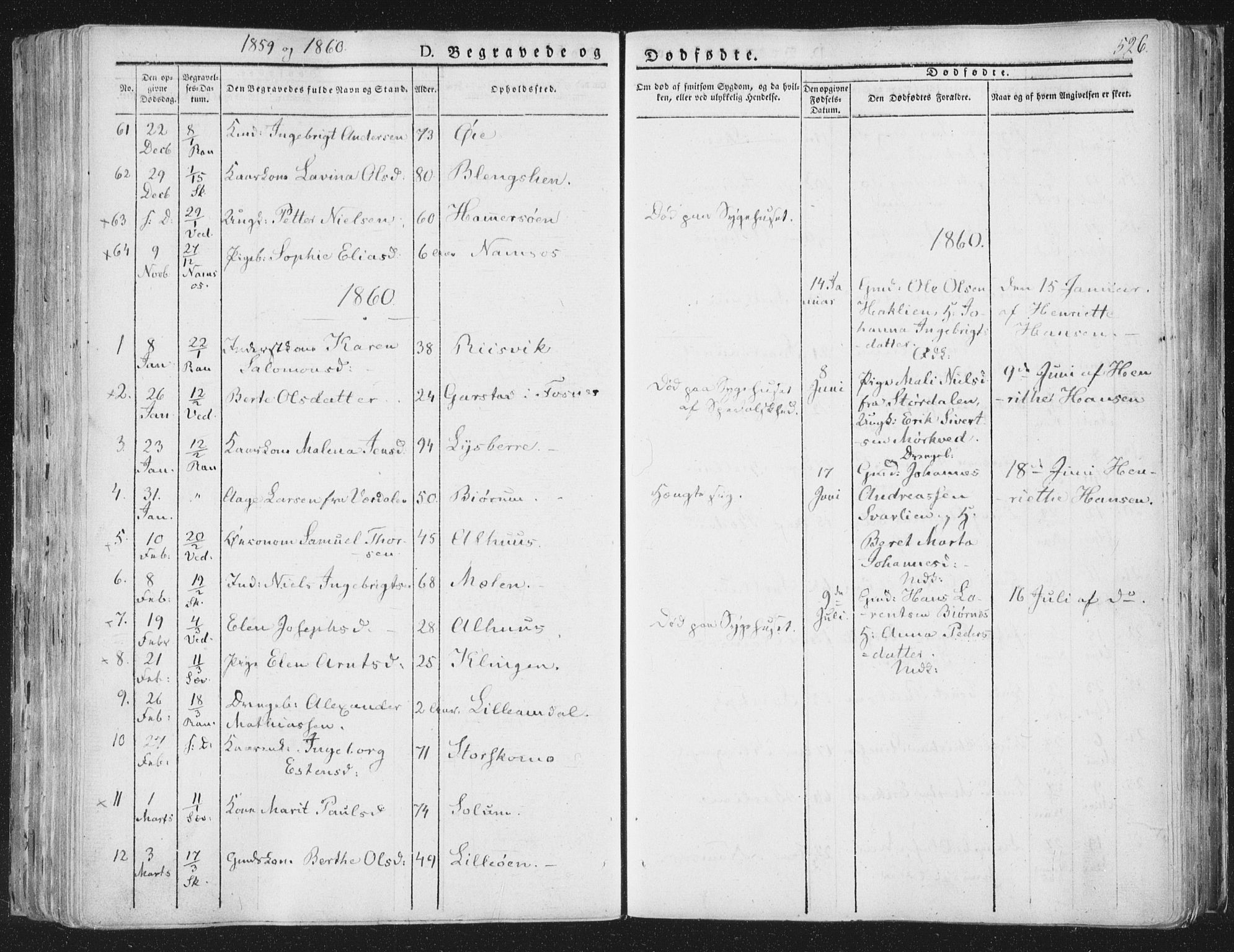 SAT, Ministerialprotokoller, klokkerbøker og fødselsregistre - Nord-Trøndelag, 764/L0552: Ministerialbok nr. 764A07b, 1824-1865, s. 526