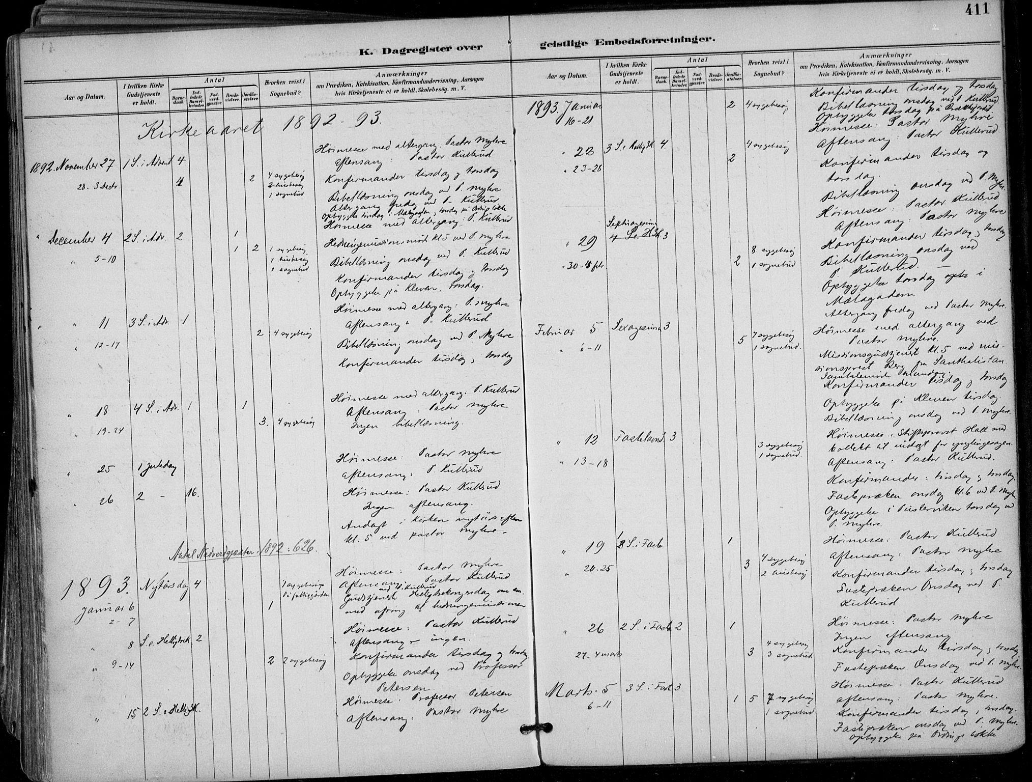 SAKO, Skien kirkebøker, F/Fa/L0010: Ministerialbok nr. 10, 1891-1899, s. 411