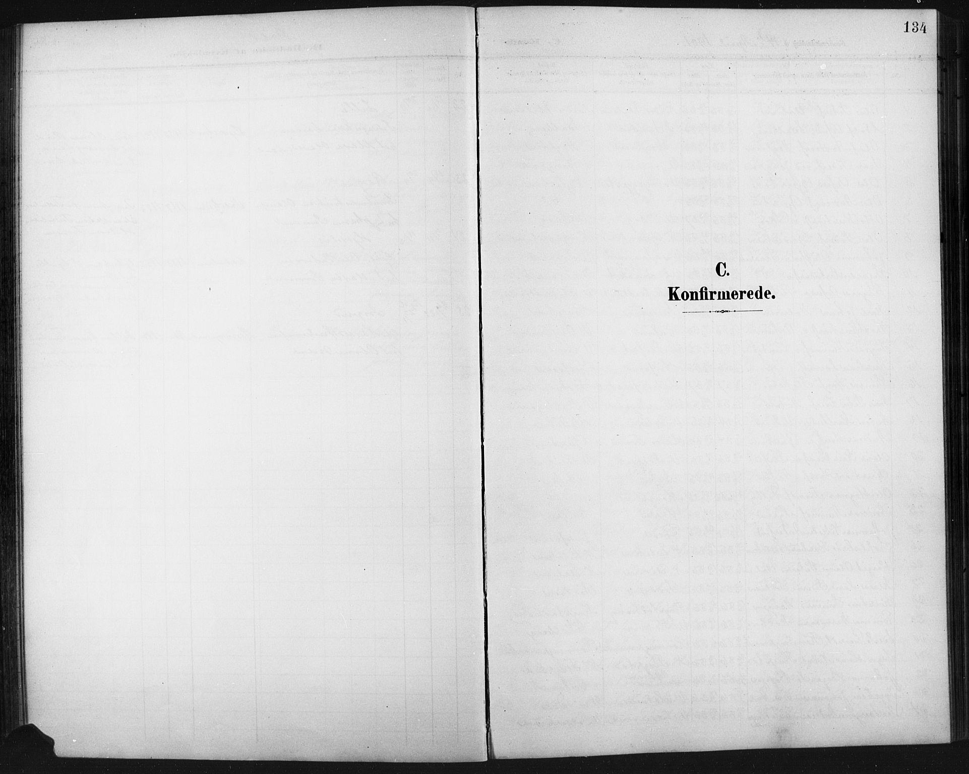 SAH, Fåberg prestekontor, Klokkerbok nr. 11, 1901-1921, s. 134