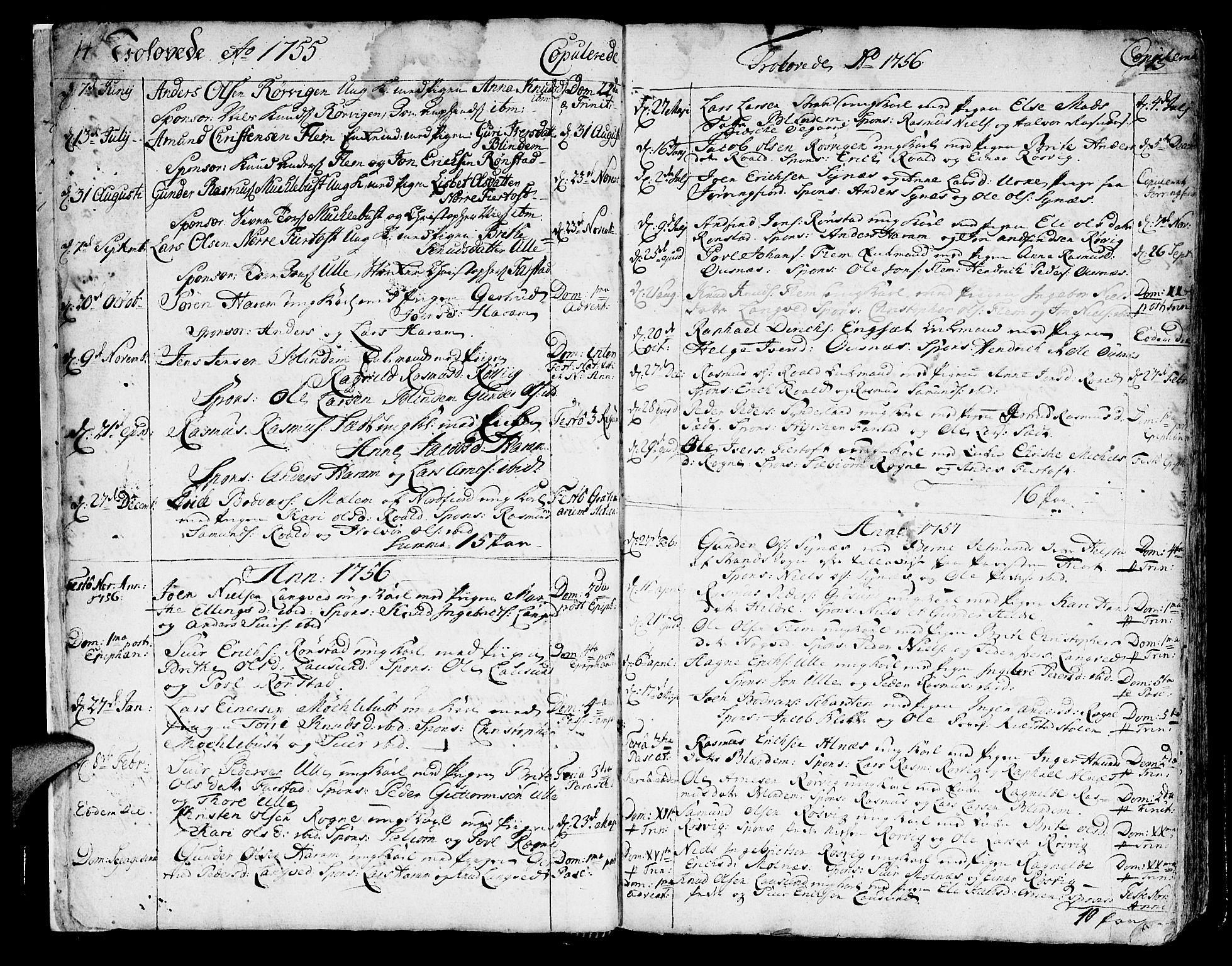 SAT, Ministerialprotokoller, klokkerbøker og fødselsregistre - Møre og Romsdal, 536/L0493: Ministerialbok nr. 536A02, 1739-1802, s. 14-15