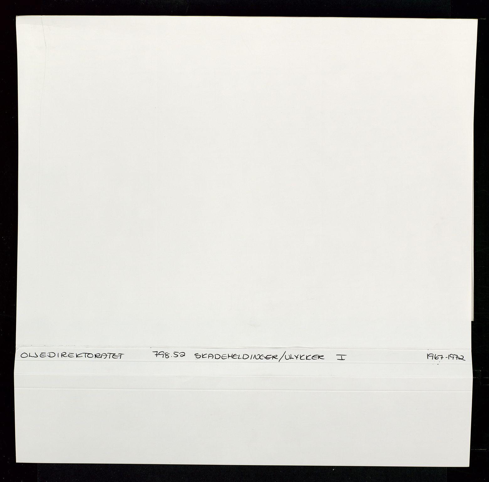 SAST, Industridepartementet, Oljekontoret, Da/L0012: Arkivnøkkel 798 Helikopter, luftfart, telekommunikasjon og skademeldinger/ulykker, 1966-1972, s. 409