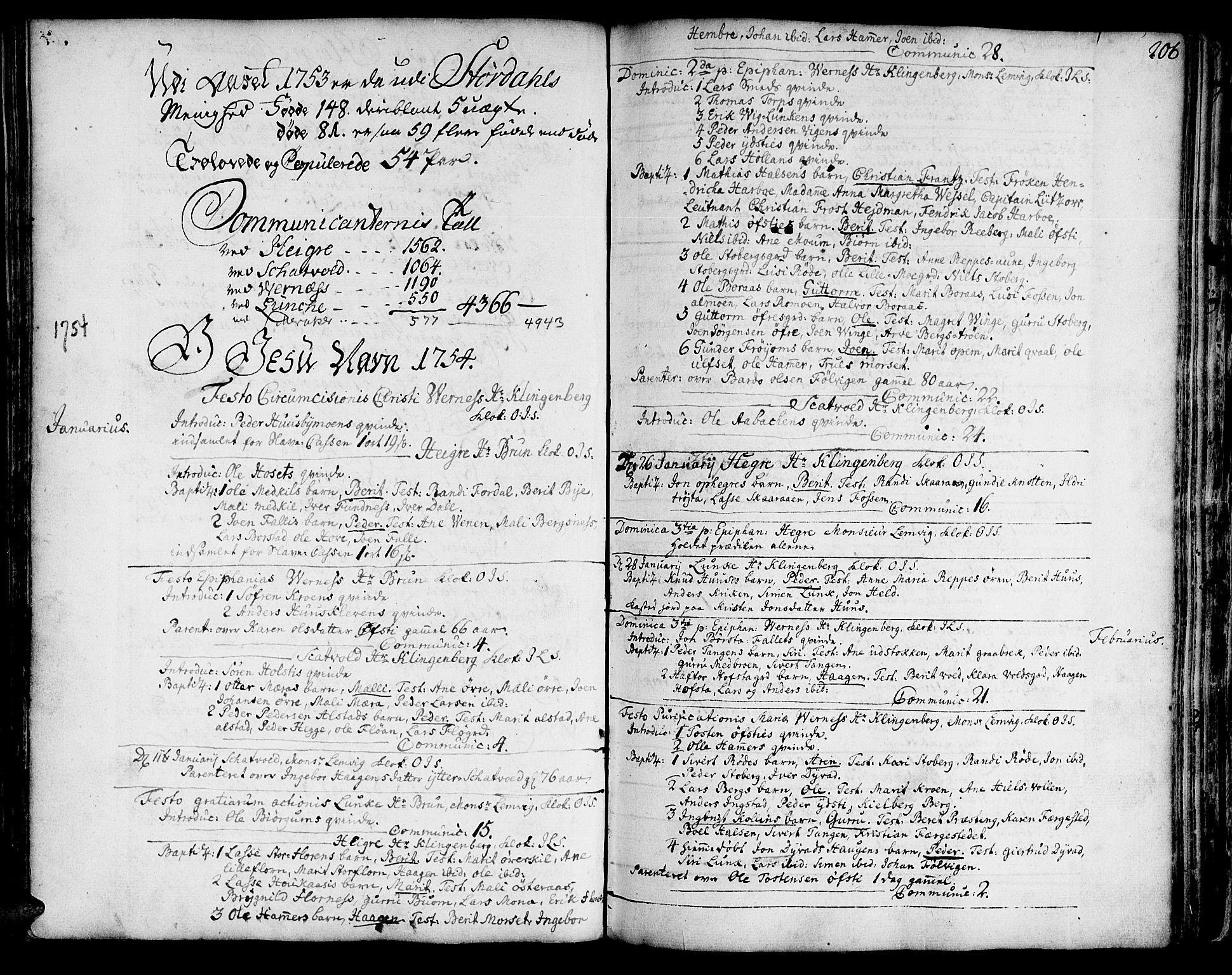SAT, Ministerialprotokoller, klokkerbøker og fødselsregistre - Nord-Trøndelag, 709/L0056: Ministerialbok nr. 709A04, 1740-1756, s. 206