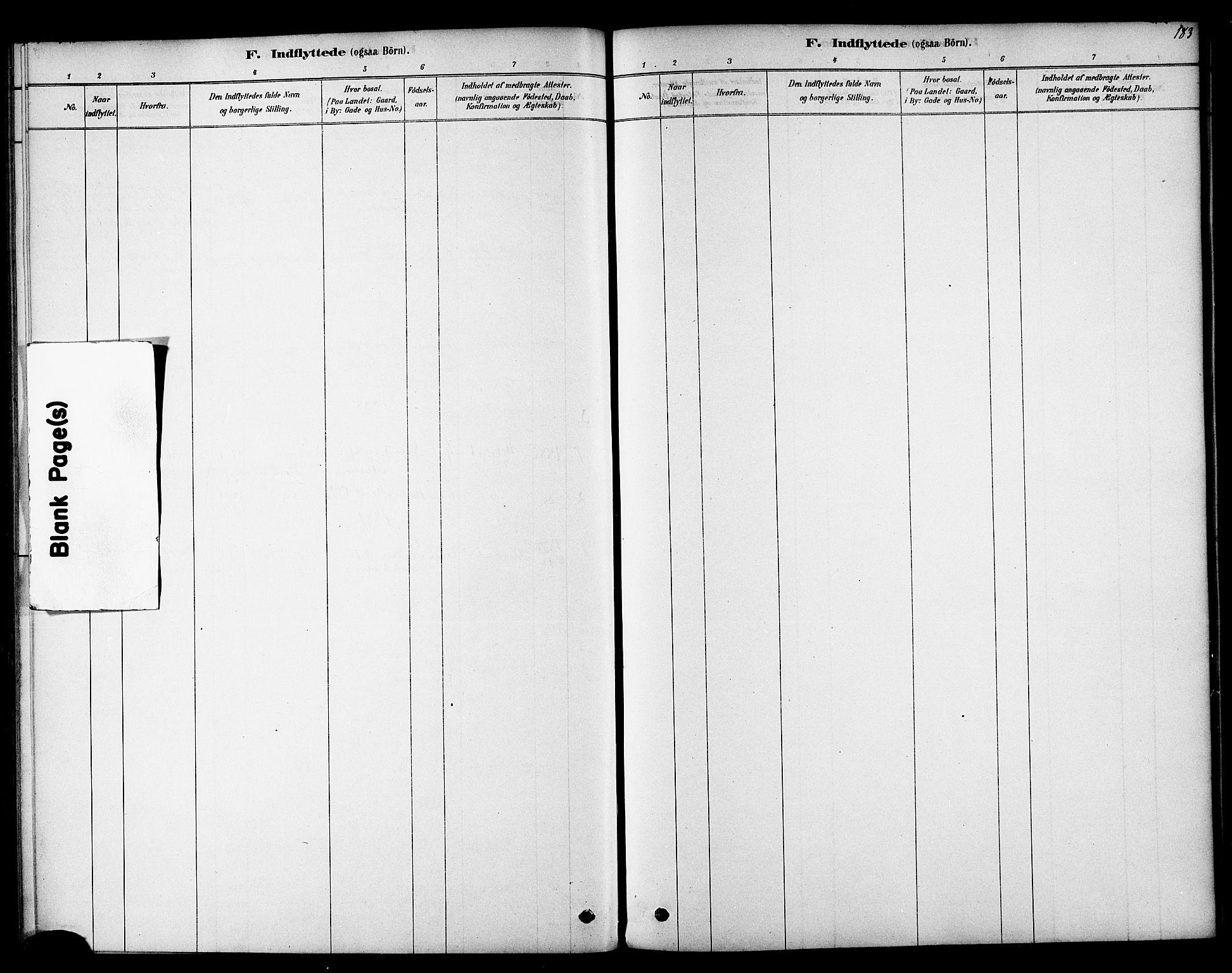SAT, Ministerialprotokoller, klokkerbøker og fødselsregistre - Sør-Trøndelag, 692/L1105: Ministerialbok nr. 692A05, 1878-1890, s. 183