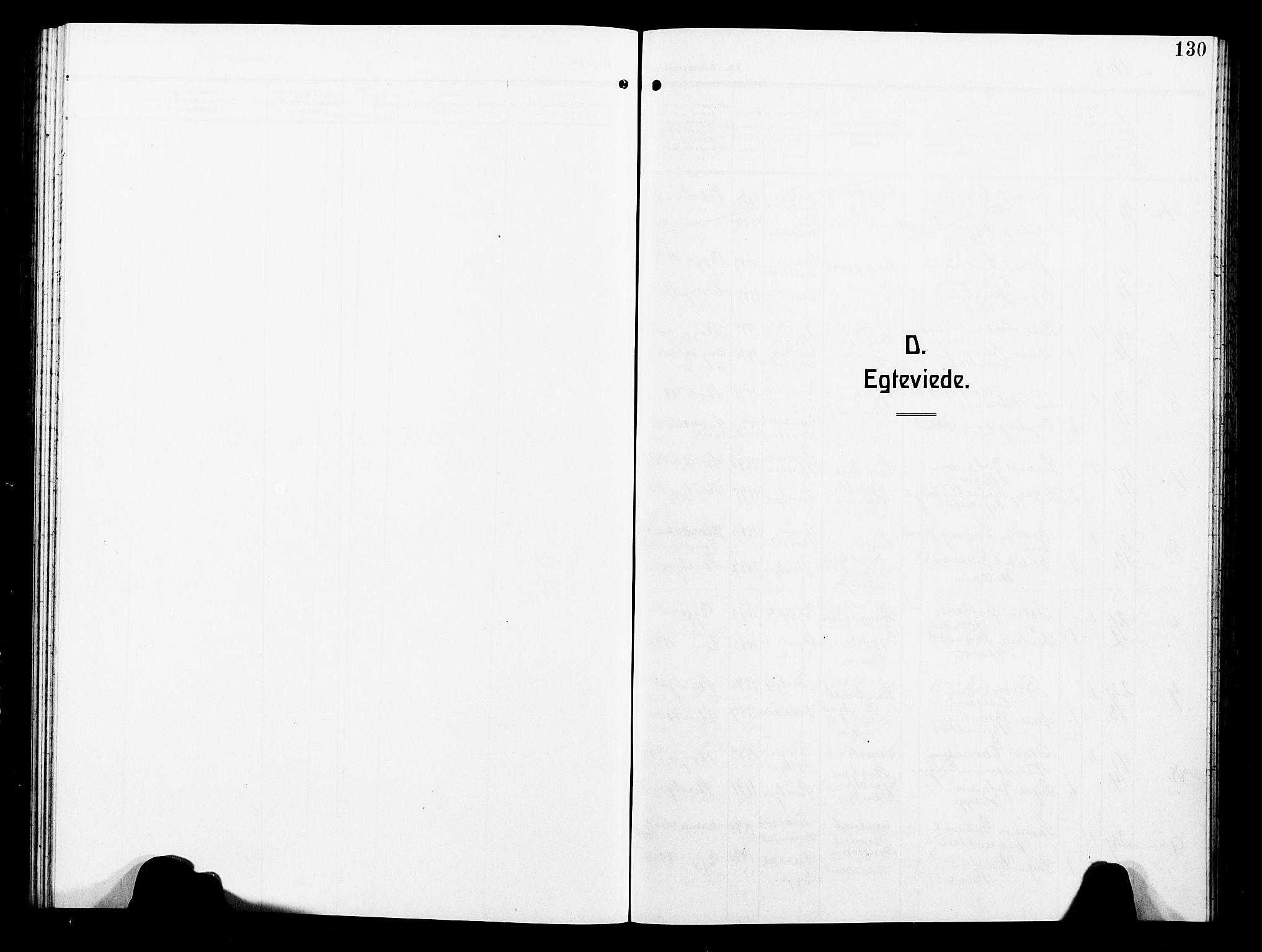 SAT, Ministerialprotokoller, klokkerbøker og fødselsregistre - Nord-Trøndelag, 739/L0376: Klokkerbok nr. 739C04, 1908-1917, s. 130