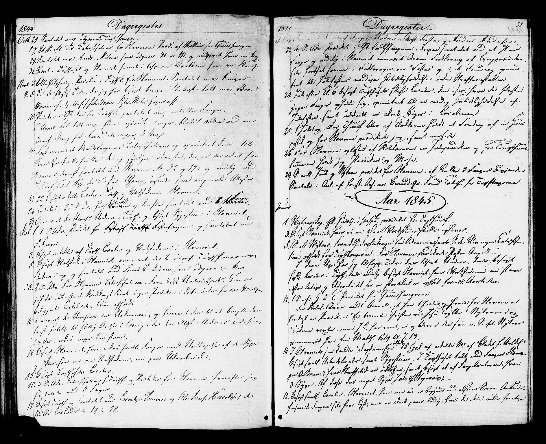 SAT, Ministerialprotokoller, klokkerbøker og fødselsregistre - Sør-Trøndelag, 624/L0480: Ministerialbok nr. 624A01, 1841-1864, s. 38