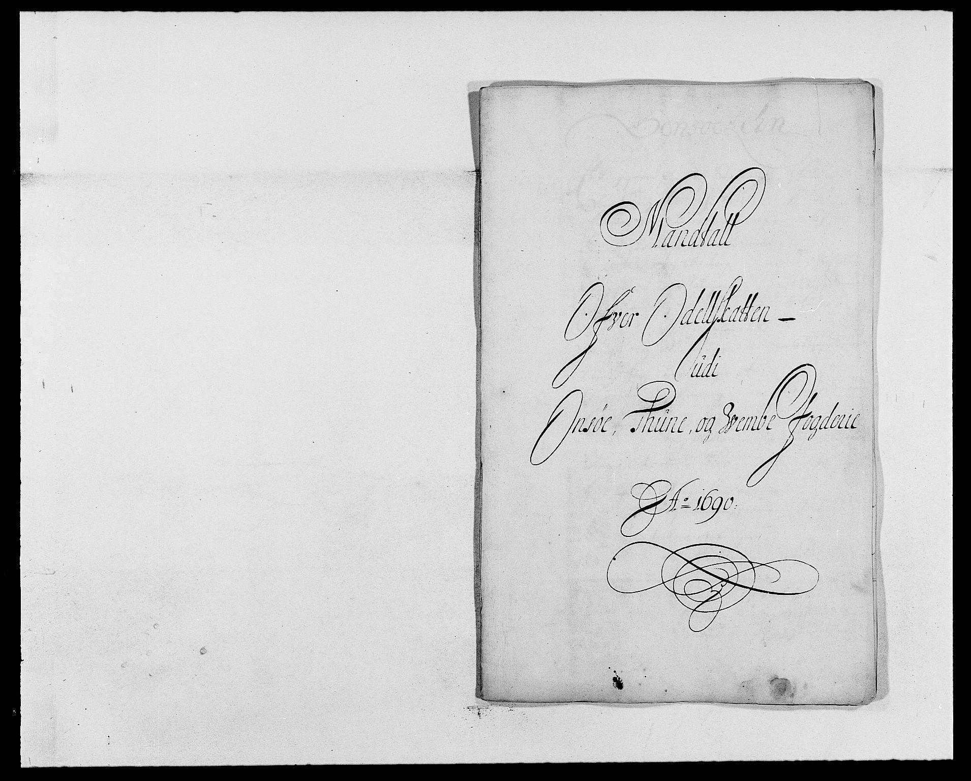 RA, Rentekammeret inntil 1814, Reviderte regnskaper, Fogderegnskap, R03/L0119: Fogderegnskap Onsøy, Tune, Veme og Åbygge fogderi, 1690-1691, s. 120