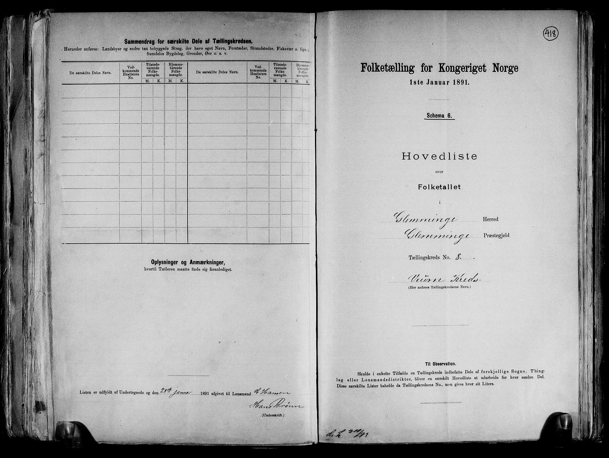 RA, Folketelling 1891 for 0132 Glemmen herred, 1891, s. 30