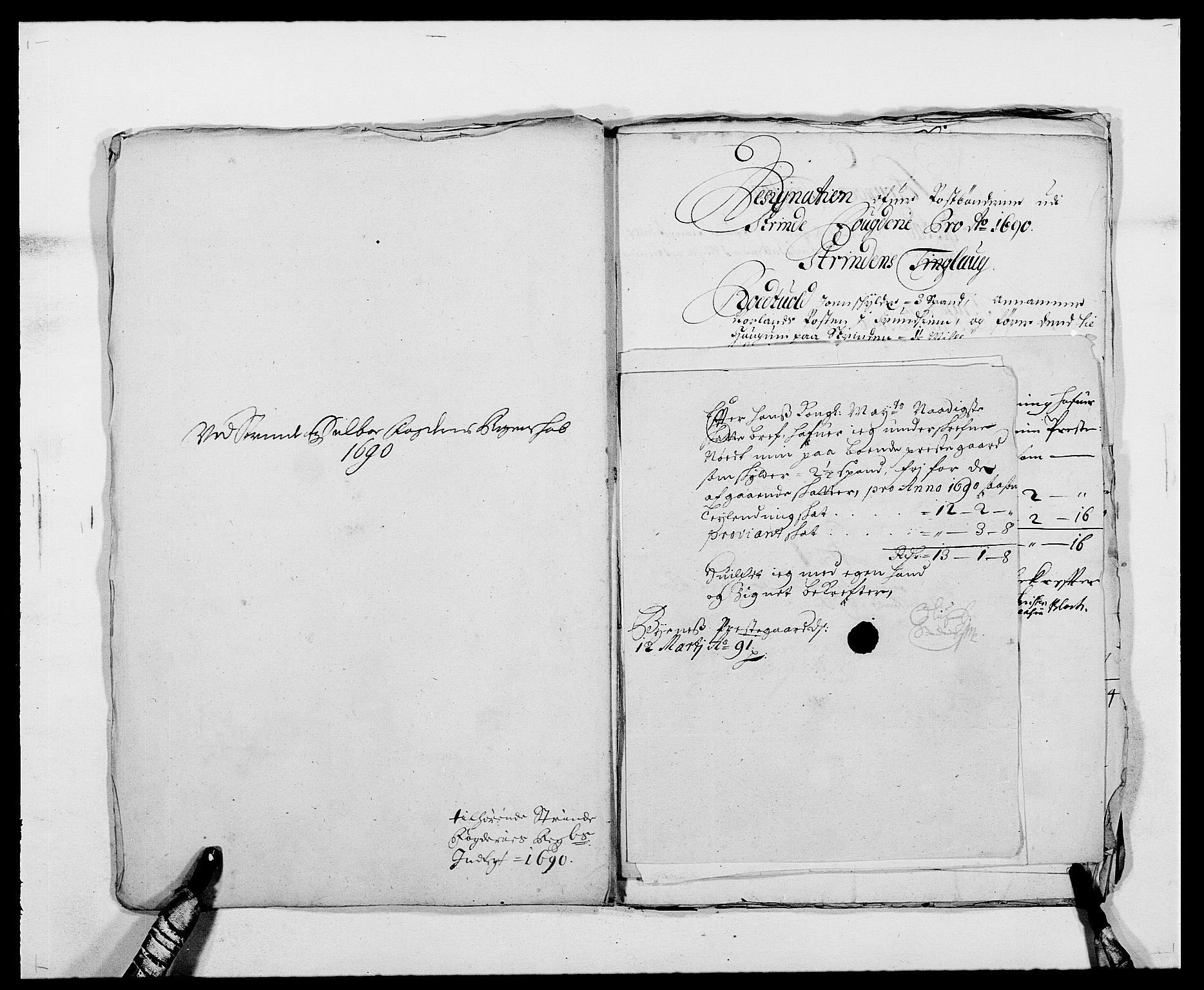 RA, Rentekammeret inntil 1814, Reviderte regnskaper, Fogderegnskap, R61/L4102: Fogderegnskap Strinda og Selbu, 1689-1690, s. 269