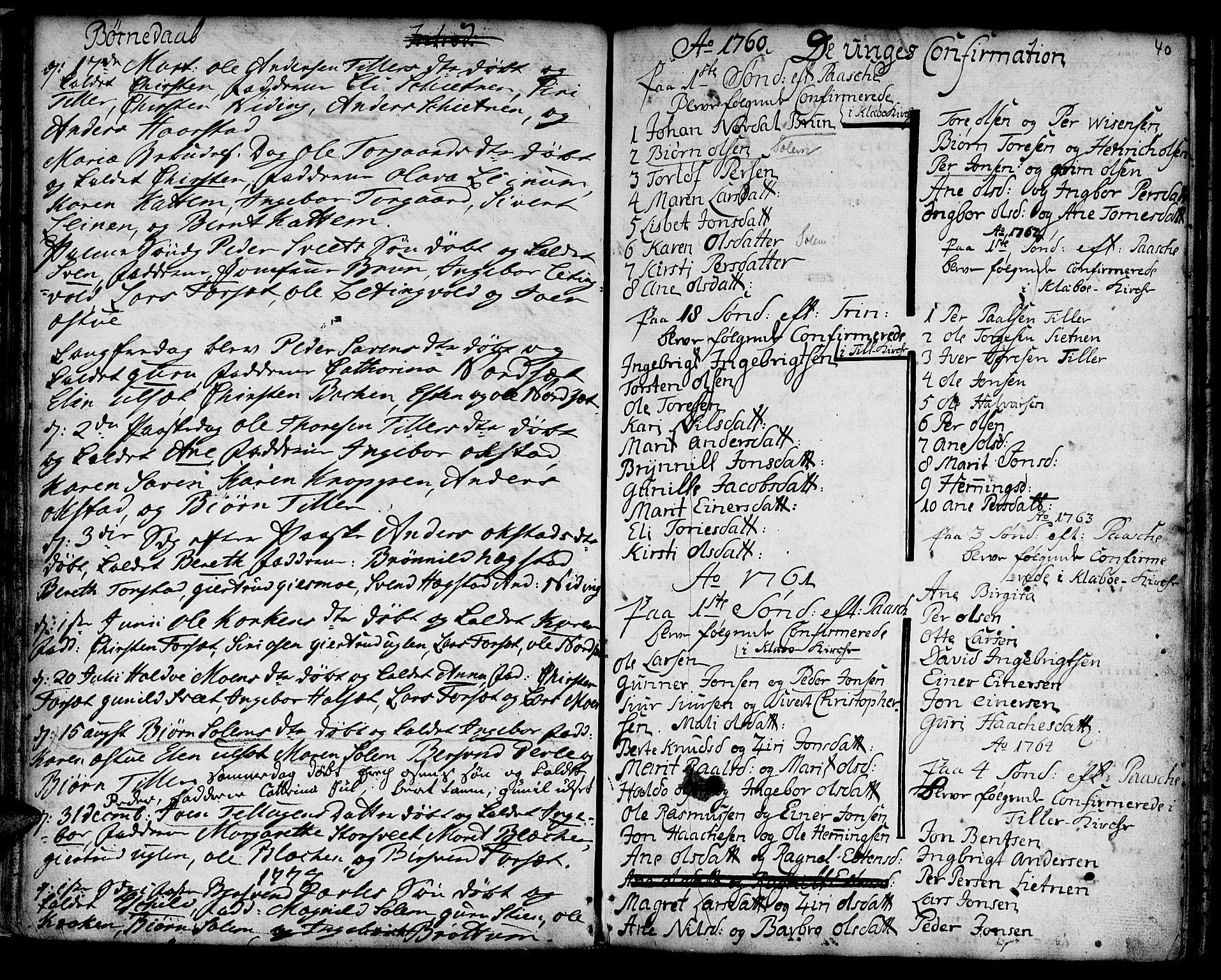 SAT, Ministerialprotokoller, klokkerbøker og fødselsregistre - Sør-Trøndelag, 618/L0437: Ministerialbok nr. 618A02, 1749-1782, s. 40