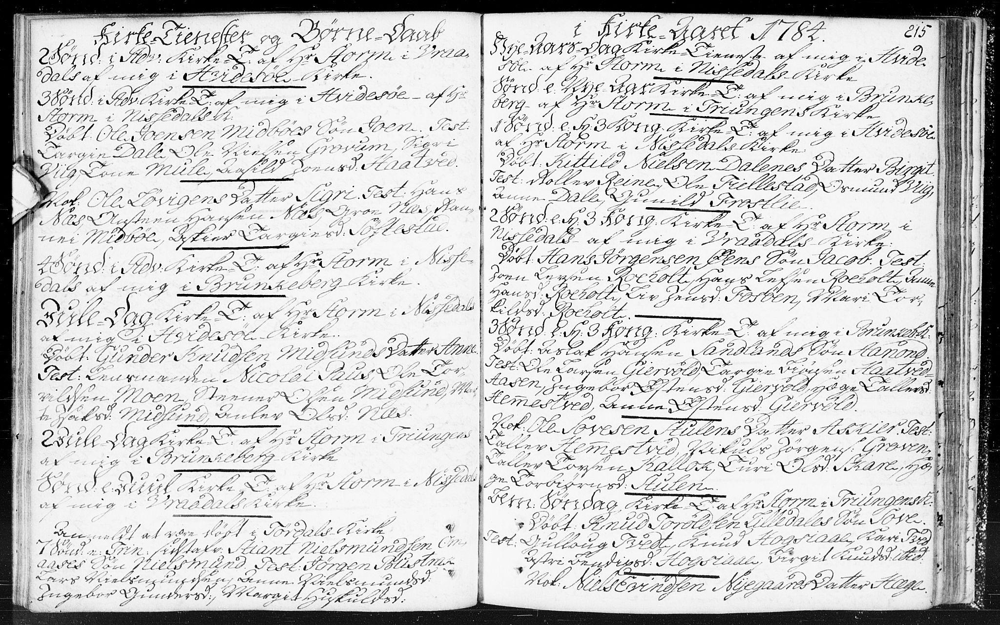 SAKO, Kviteseid kirkebøker, F/Fa/L0002: Ministerialbok nr. I 2, 1773-1786, s. 215