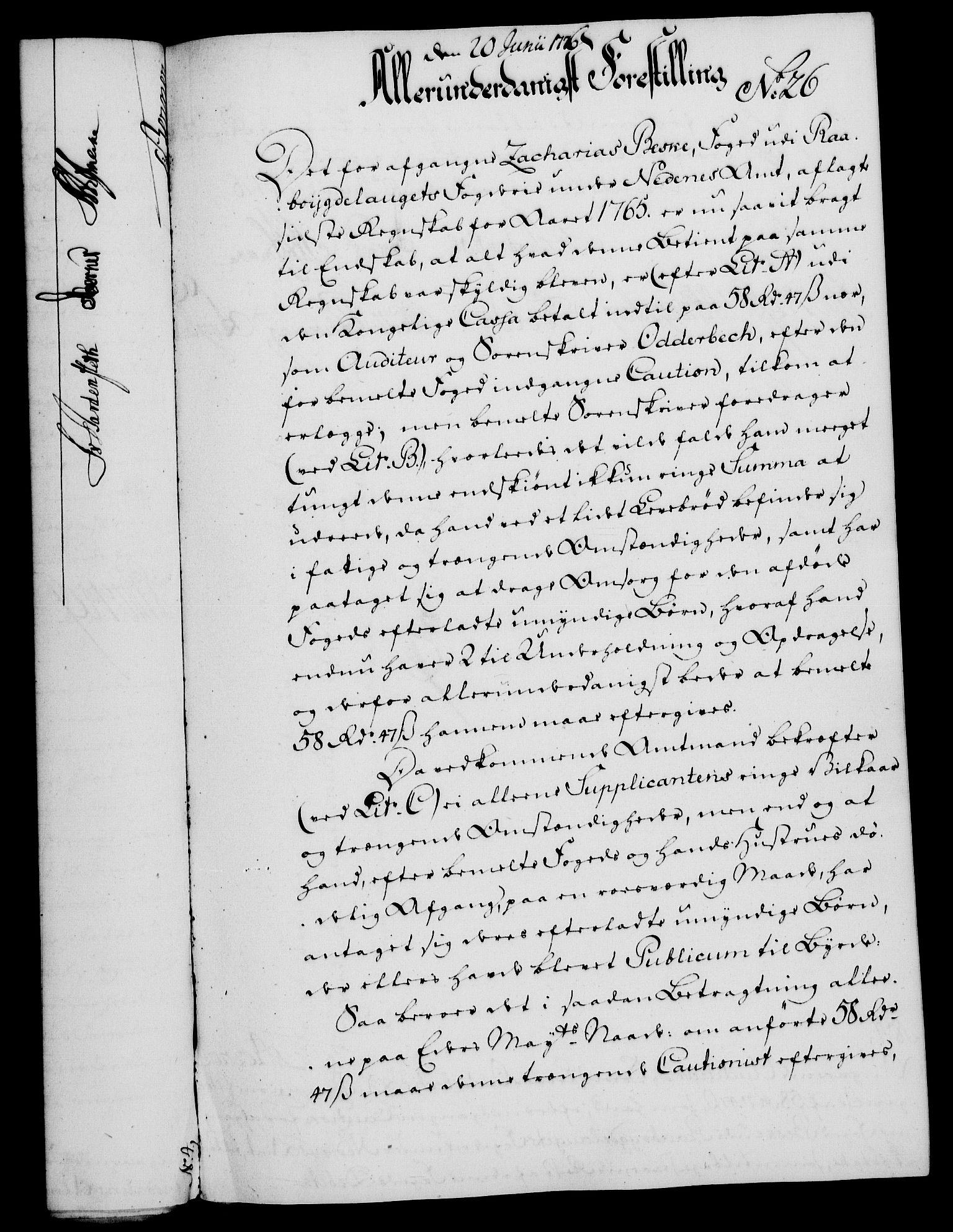 RA, Rentekammeret, Kammerkanselliet, G/Gf/Gfa/L0058: Norsk relasjons- og resolusjonsprotokoll (merket RK 52.58), 1776, s. 114