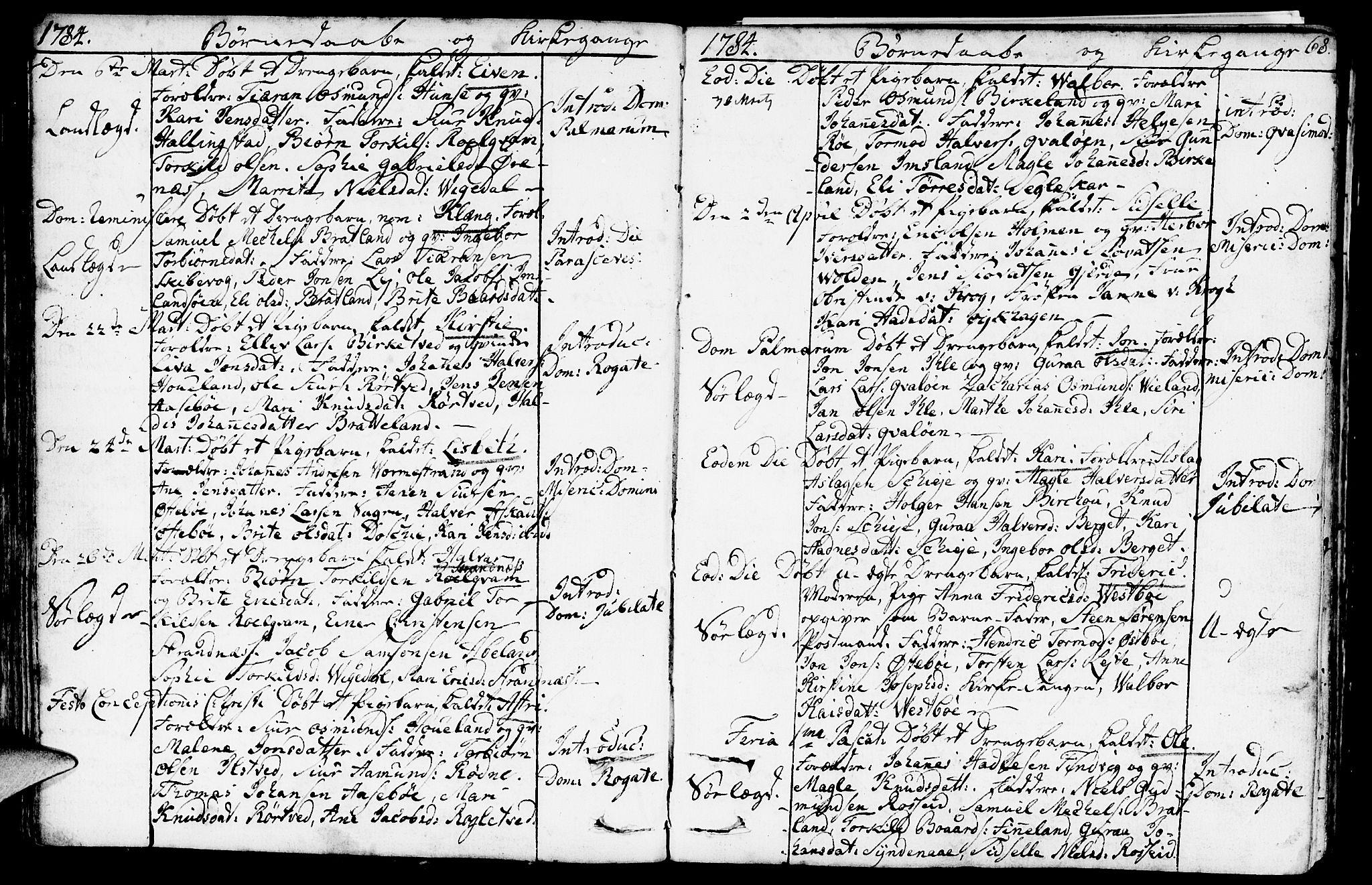 SAST, Vikedal sokneprestkontor, IV: Ministerialbok nr. A 2, 1779-1817, s. 68