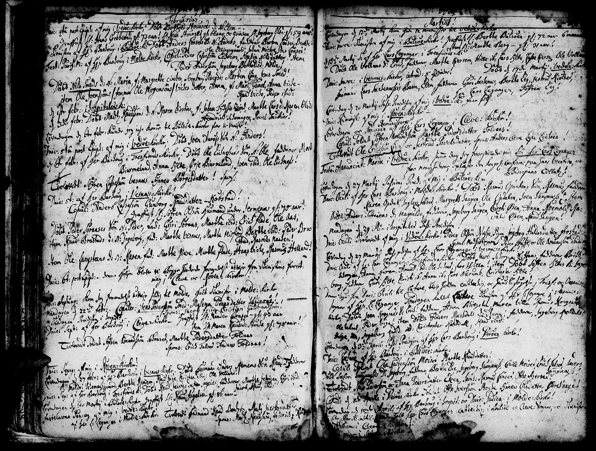 SAT, Ministerialprotokoller, klokkerbøker og fødselsregistre - Møre og Romsdal, 547/L0599: Ministerialbok nr. 547A01, 1721-1764, s. 142-143
