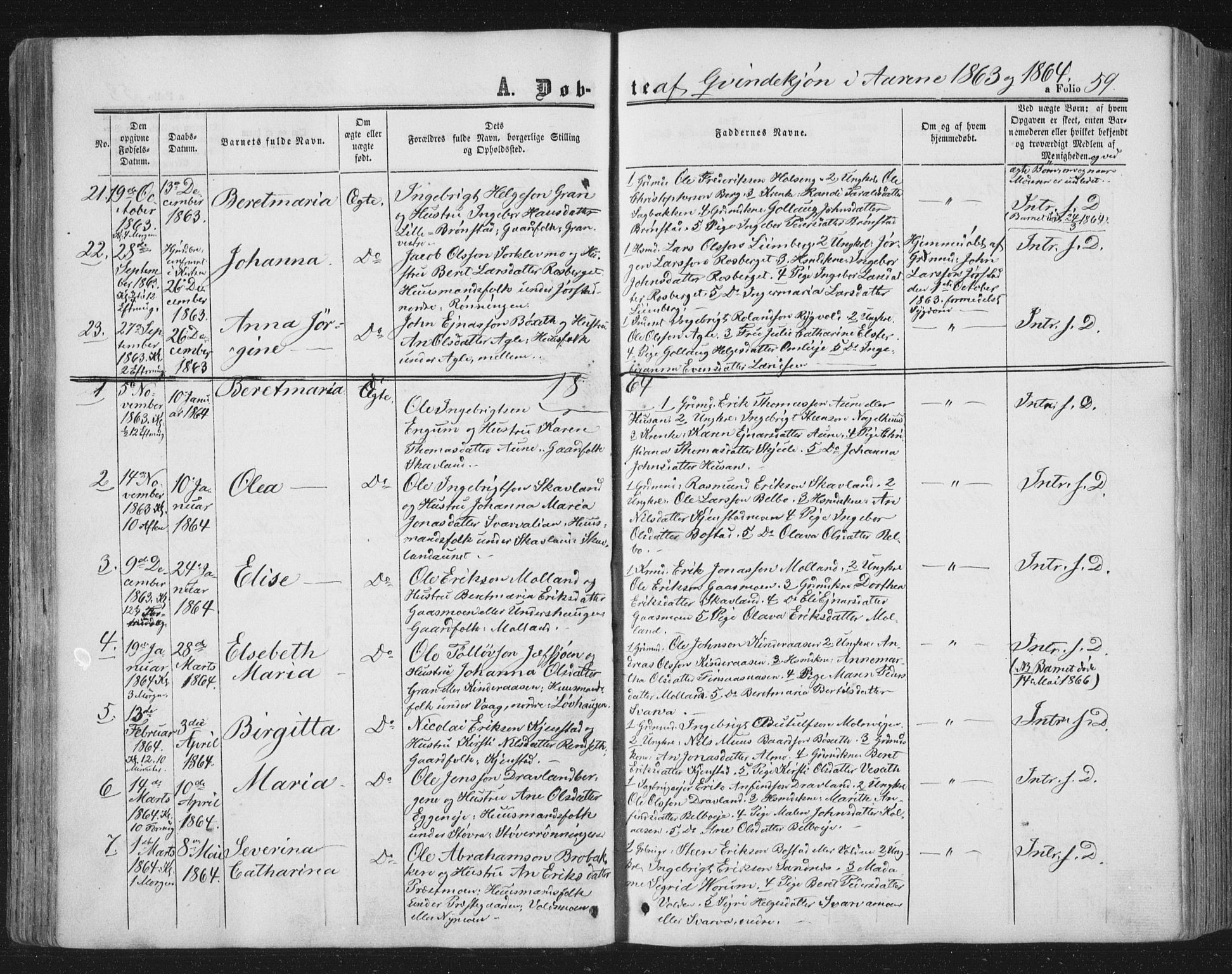 SAT, Ministerialprotokoller, klokkerbøker og fødselsregistre - Nord-Trøndelag, 749/L0472: Ministerialbok nr. 749A06, 1857-1873, s. 59