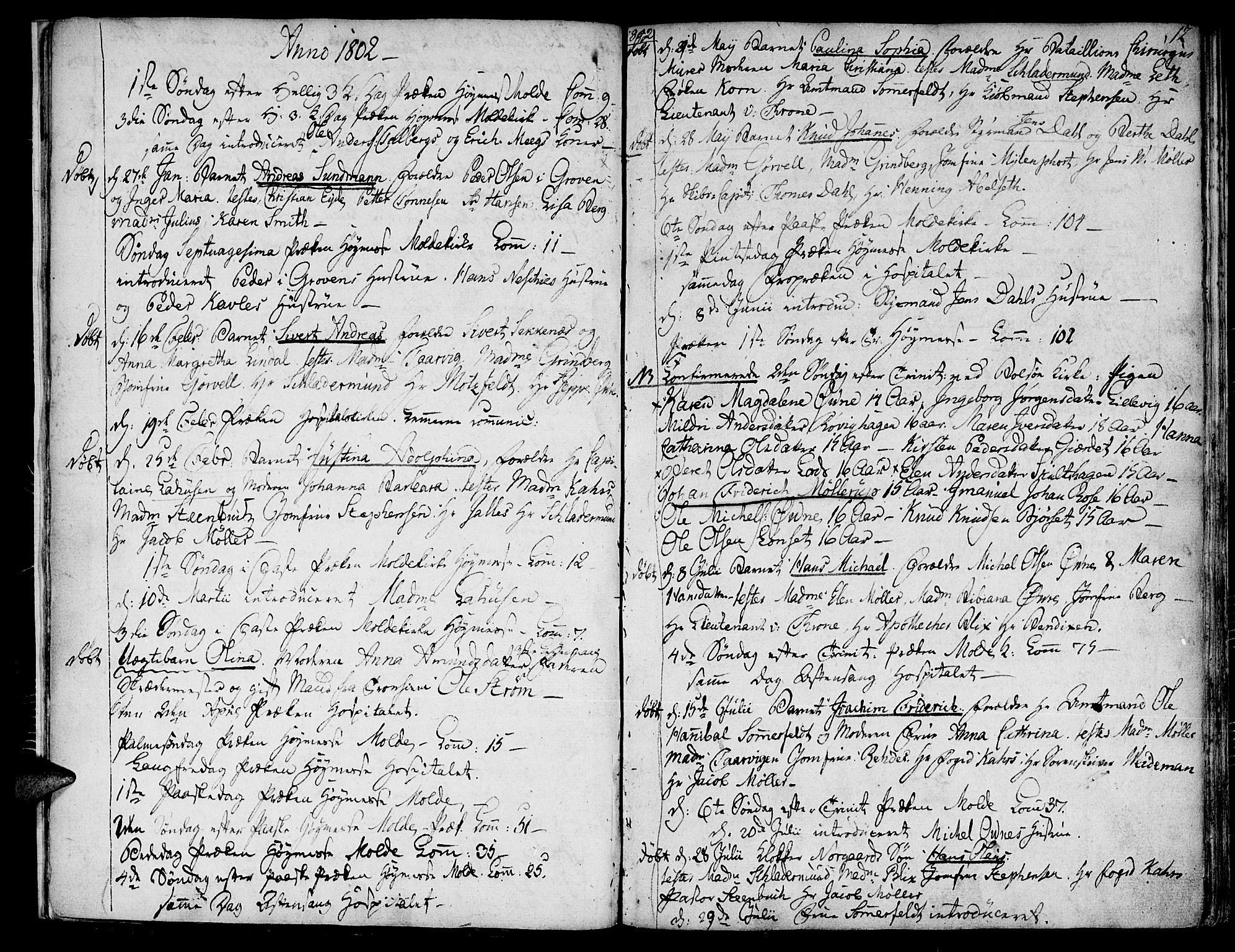SAT, Ministerialprotokoller, klokkerbøker og fødselsregistre - Møre og Romsdal, 558/L0687: Ministerialbok nr. 558A01, 1798-1818, s. 12