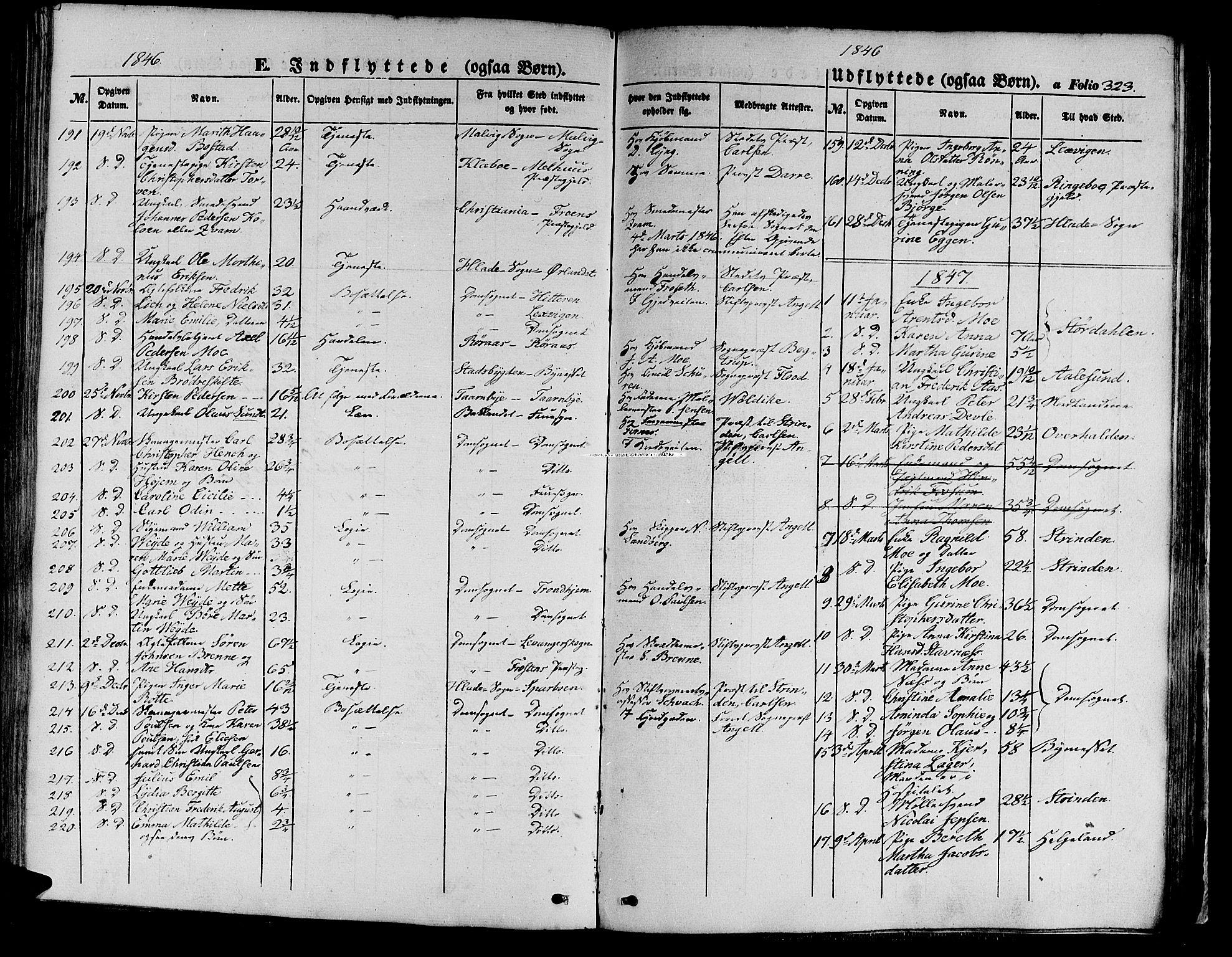 SAT, Ministerialprotokoller, klokkerbøker og fødselsregistre - Sør-Trøndelag, 602/L0137: Klokkerbok nr. 602C05, 1846-1856, s. 323