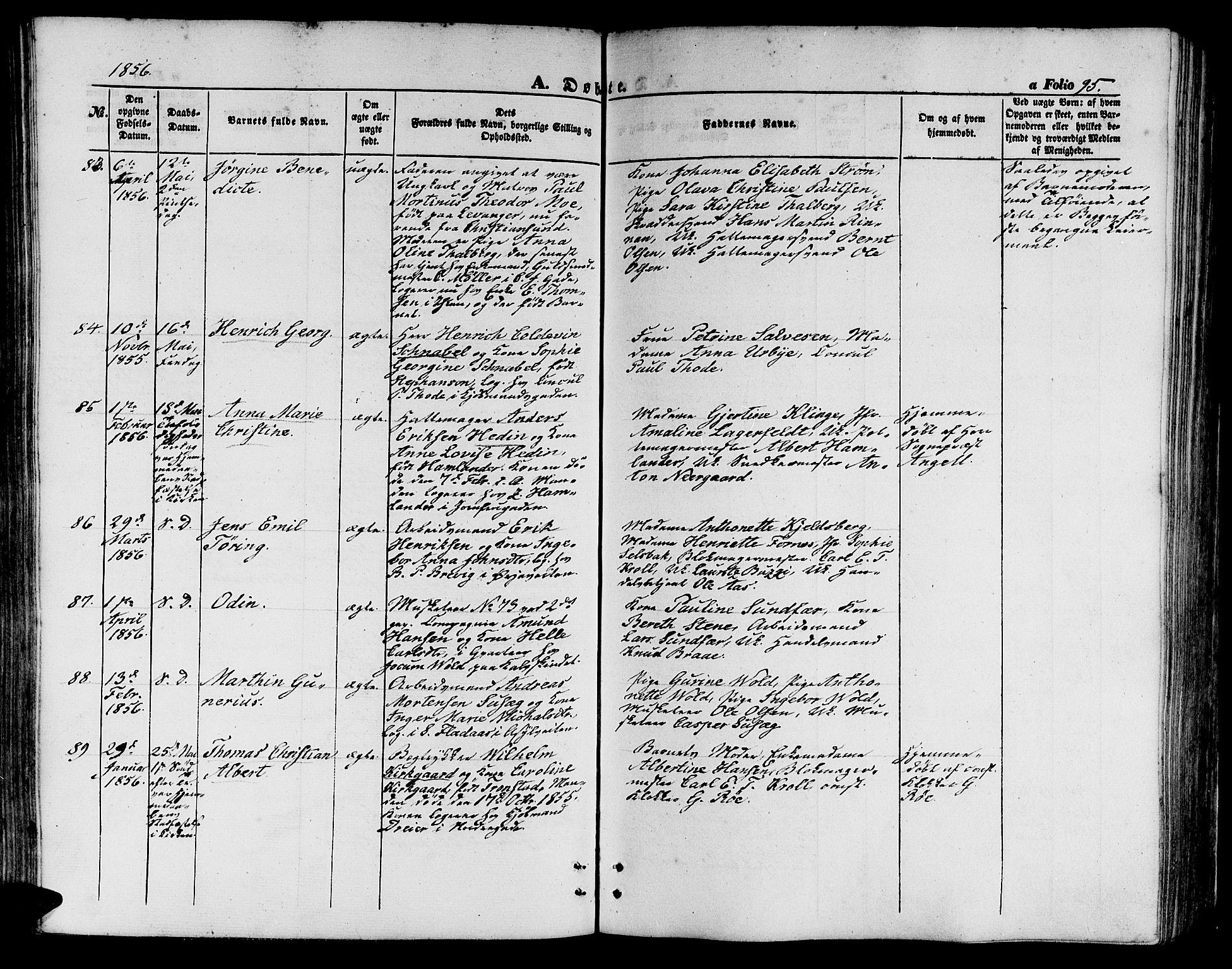 SAT, Ministerialprotokoller, klokkerbøker og fødselsregistre - Sør-Trøndelag, 602/L0138: Klokkerbok nr. 602C06, 1853-1858, s. 95
