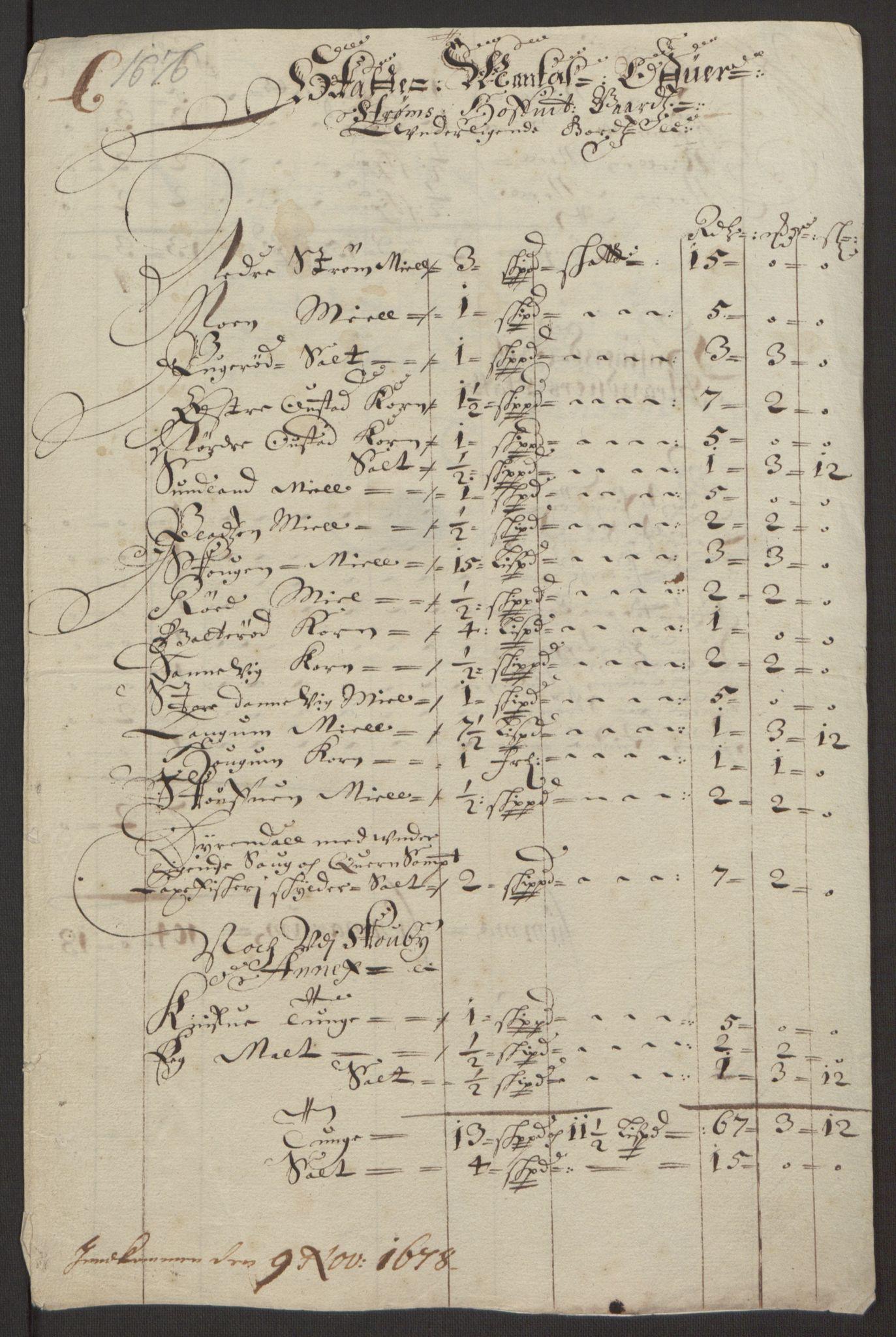 RA, Rentekammeret inntil 1814, Reviderte regnskaper, Fogderegnskap, R32/L1844: Fogderegnskap Jarlsberg grevskap, 1674-1675, s. 413