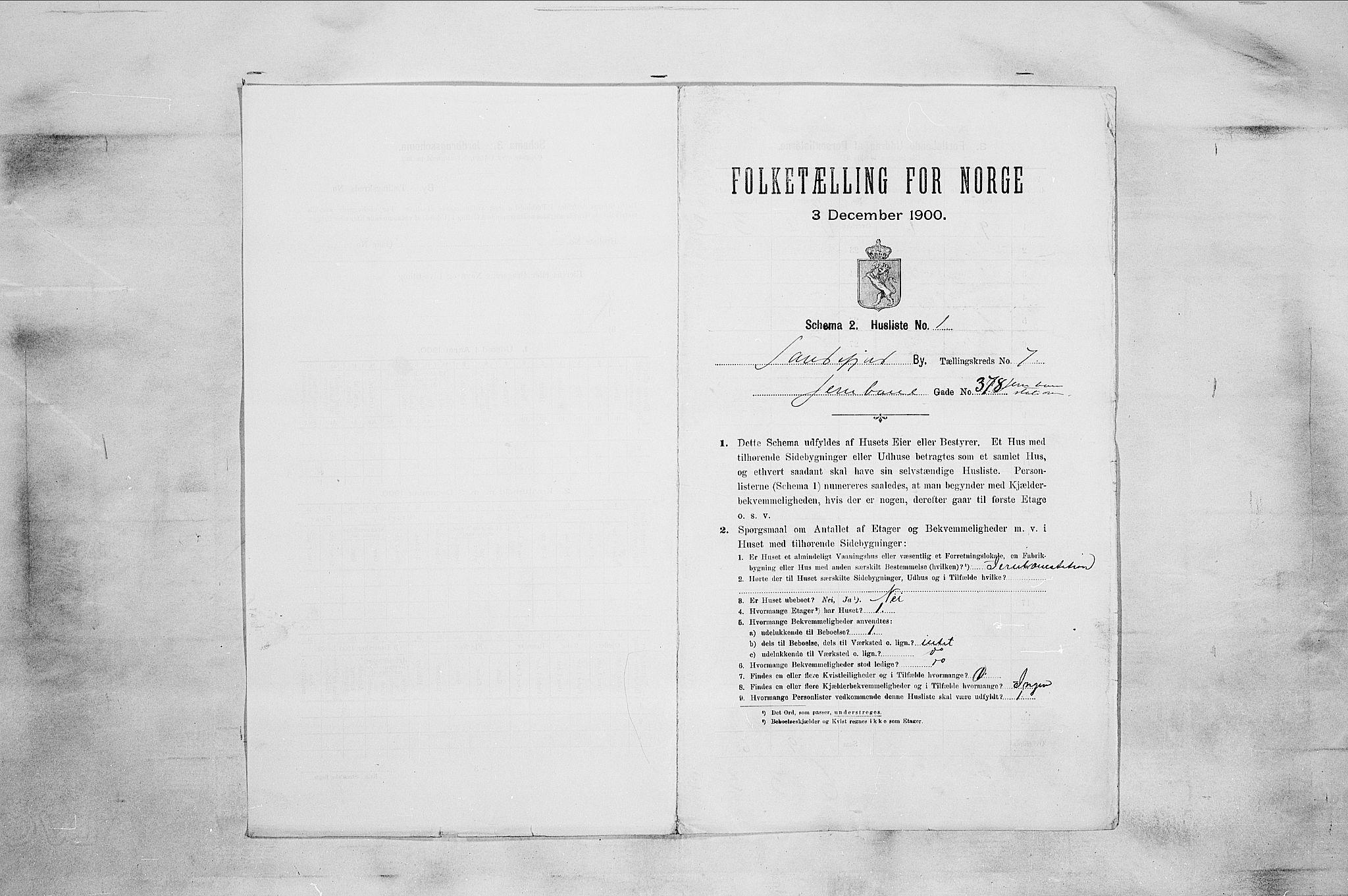 RA, Folketelling 1900 for 0706 Sandefjord kjøpstad, 1900, s. 1675