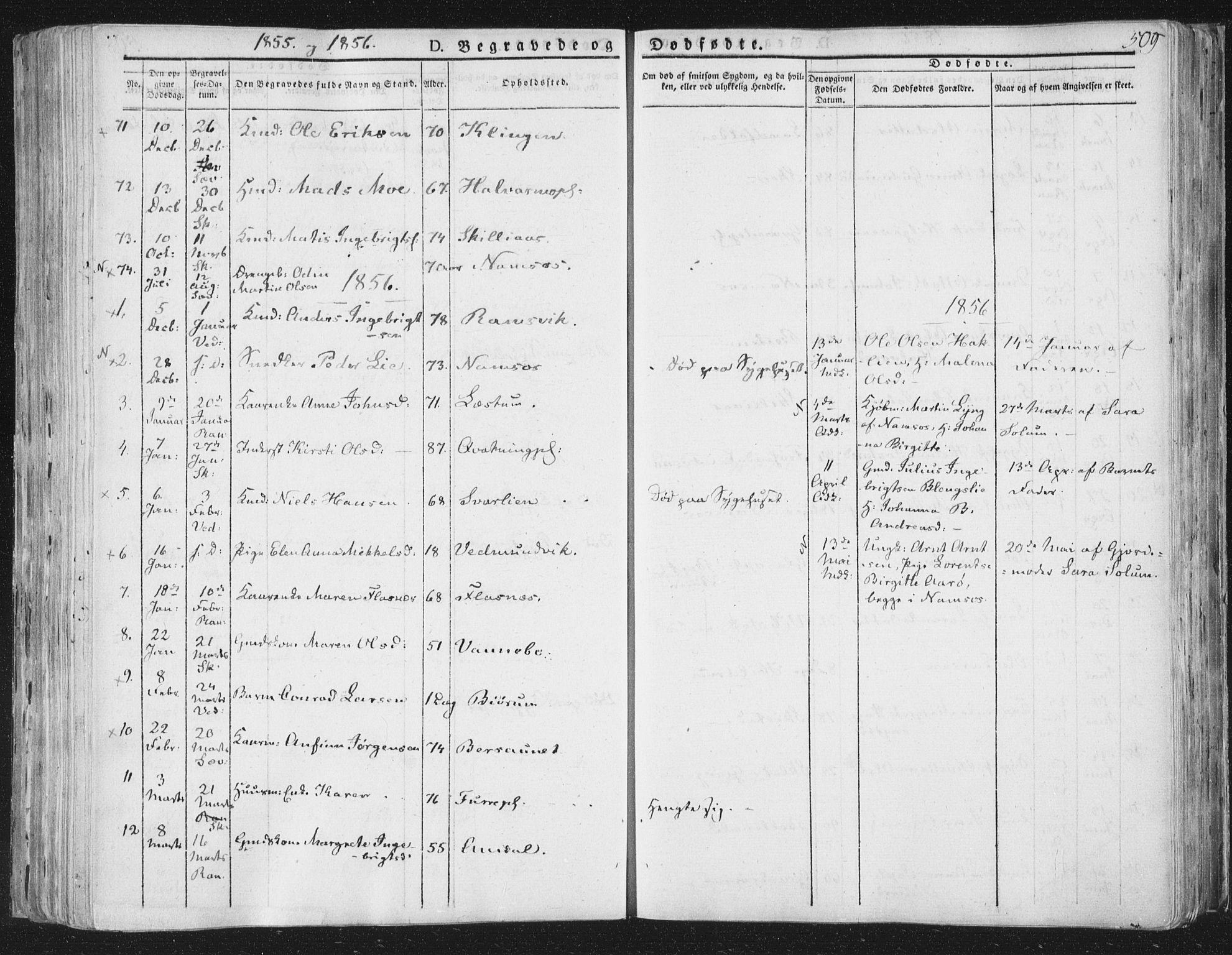 SAT, Ministerialprotokoller, klokkerbøker og fødselsregistre - Nord-Trøndelag, 764/L0552: Ministerialbok nr. 764A07b, 1824-1865, s. 509