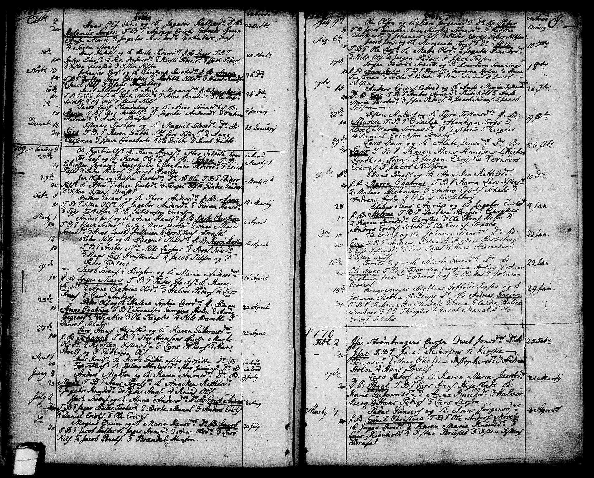SAKO, Brevik kirkebøker, F/Fa/L0003: Ministerialbok nr. 3, 1764-1814, s. 8
