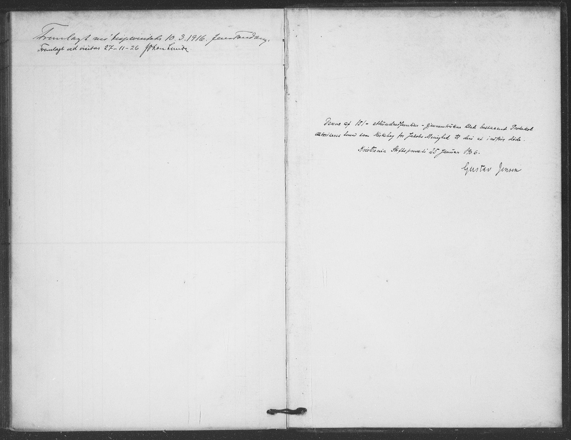 SAO, Jakob prestekontor Kirkebøker, F/Fa/L0011: Ministerialbok nr. 11, 1906-1920