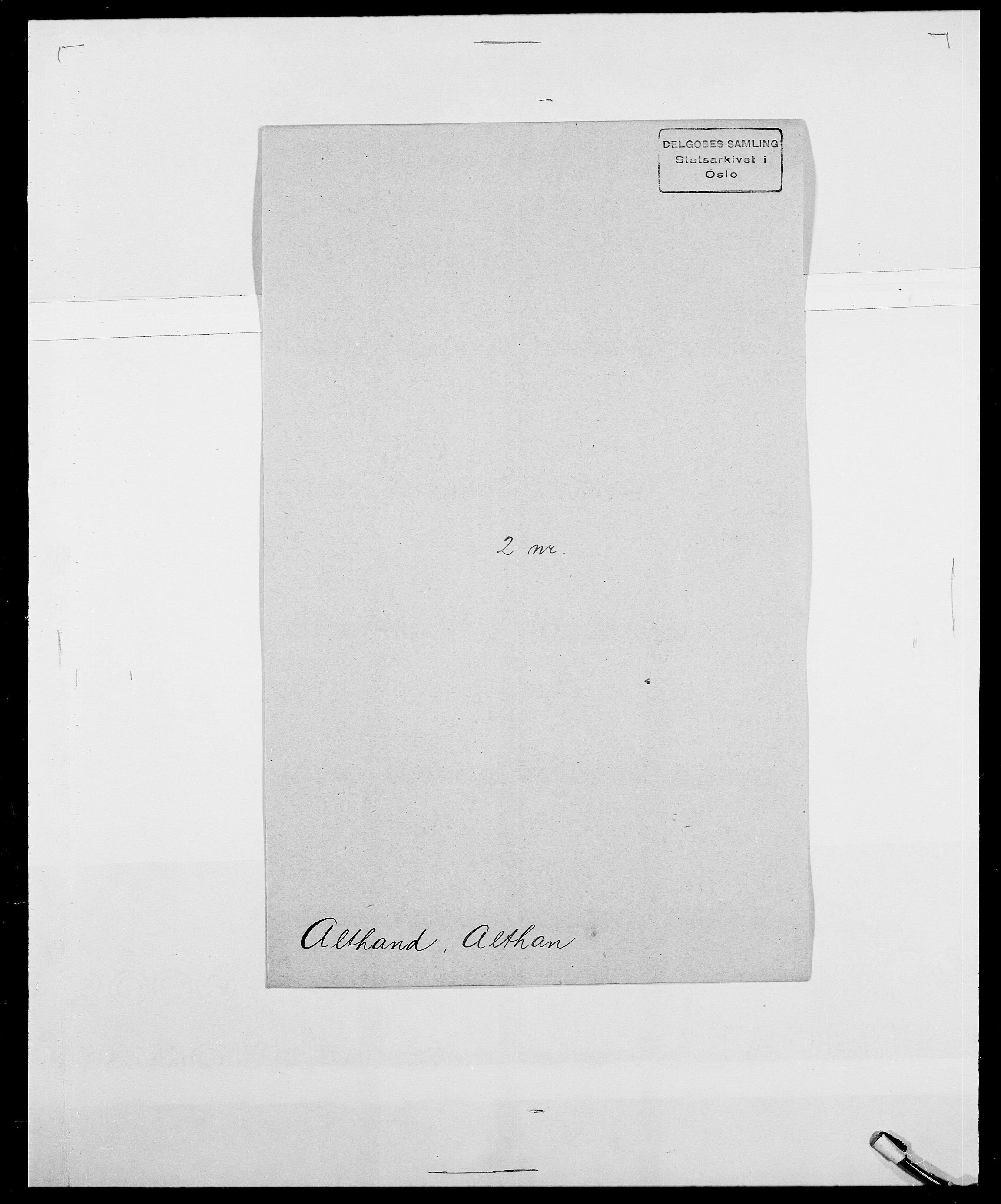 SAO, Delgobe, Charles Antoine - samling, D/Da/L0001: Aabye - Angerman, s. 496