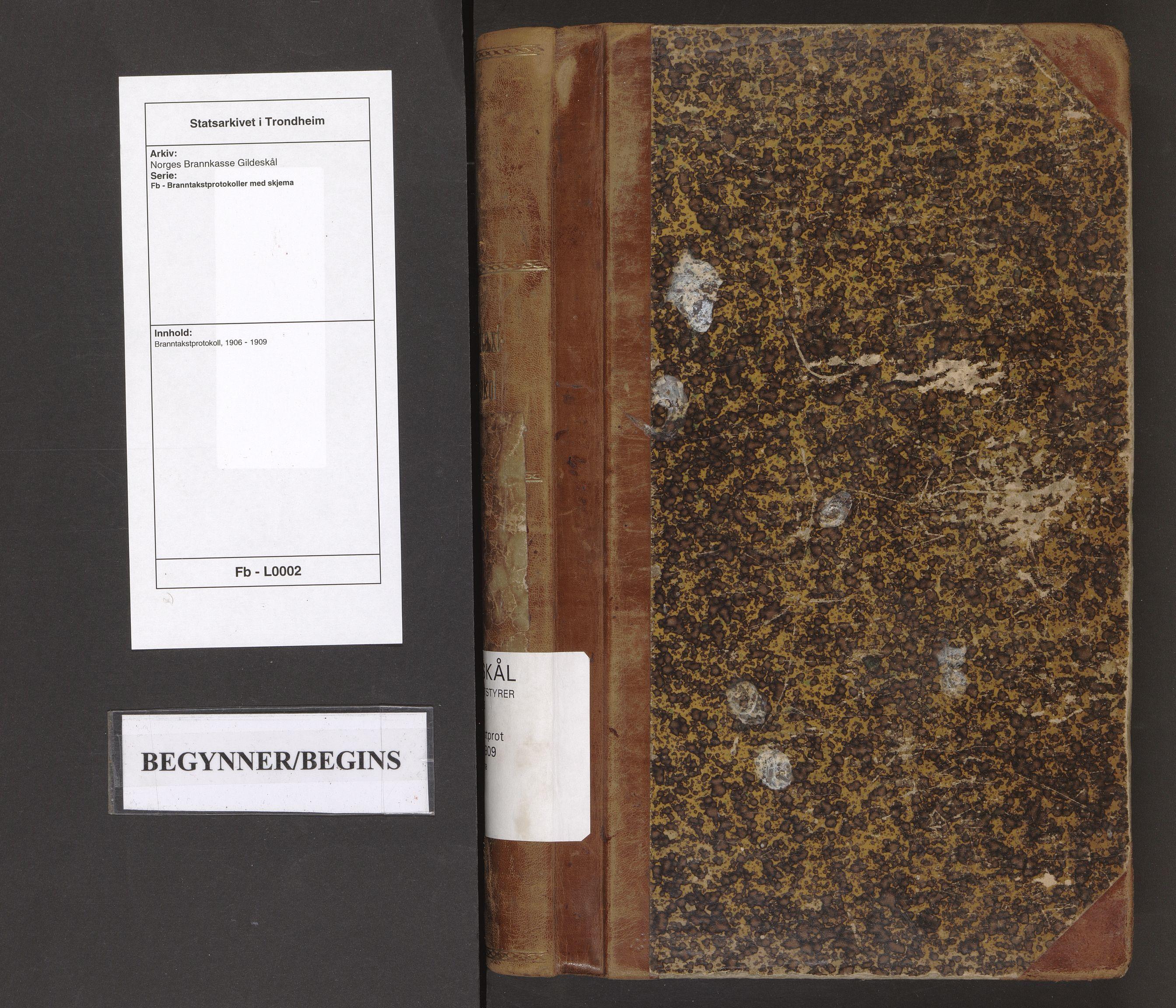 SAT, Norges Brannkasse Gildeskål, Fb/L0002: Branntakstprotokoll, 1906-1909