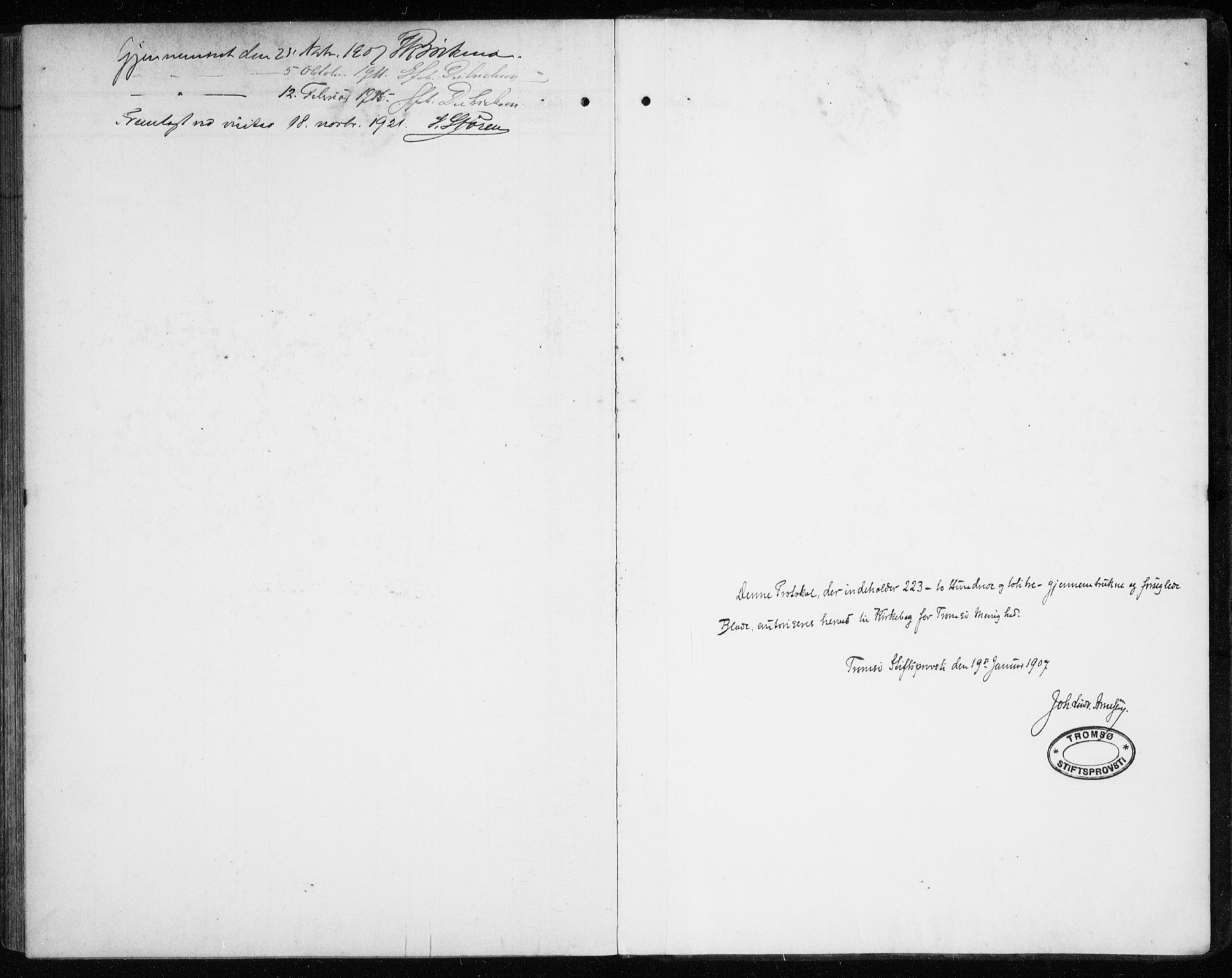 SATØ, Tromsø sokneprestkontor/stiftsprosti/domprosti, G/Ga/L0018kirke: Ministerialbok nr. 18, 1907-1917