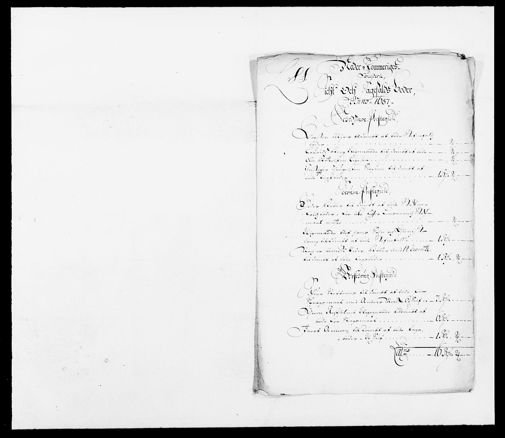 RA, Rentekammeret inntil 1814, Reviderte regnskaper, Fogderegnskap, R11/L0572: Fogderegnskap Nedre Romerike, 1686-1687, s. 224