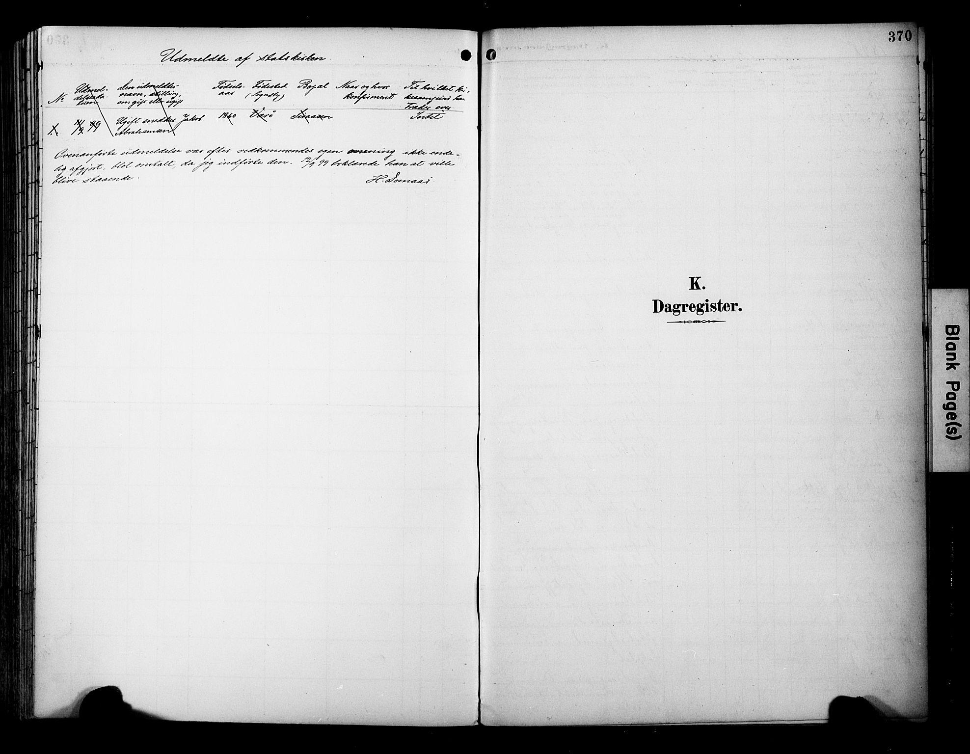 SAT, Ministerialprotokoller, klokkerbøker og fødselsregistre - Sør-Trøndelag, 695/L1149: Ministerialbok nr. 695A09, 1891-1902, s. 370