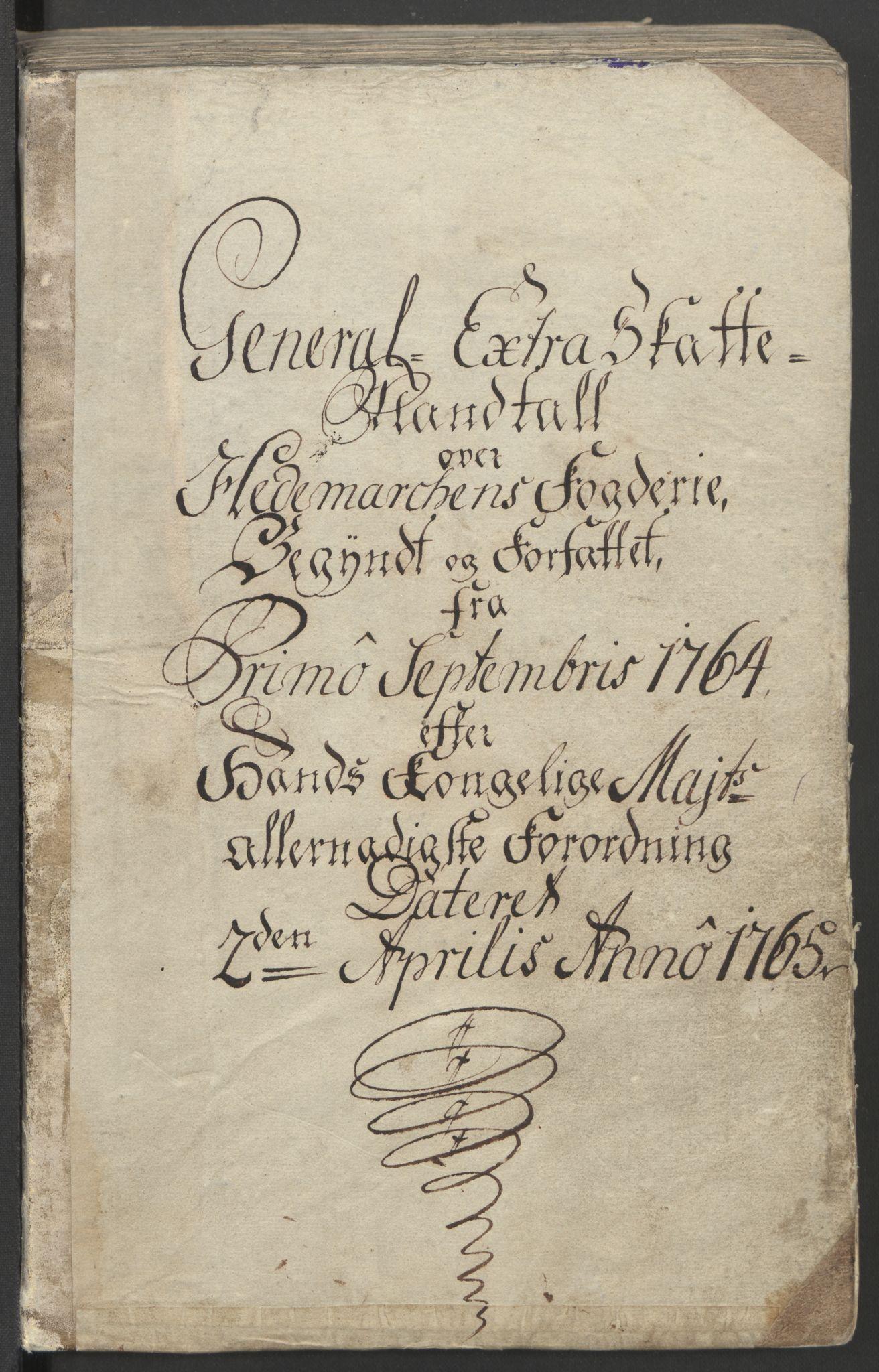 RA, Rentekammeret inntil 1814, Reviderte regnskaper, Fogderegnskap, R16/L1148: Ekstraskatten Hedmark, 1764, s. 3