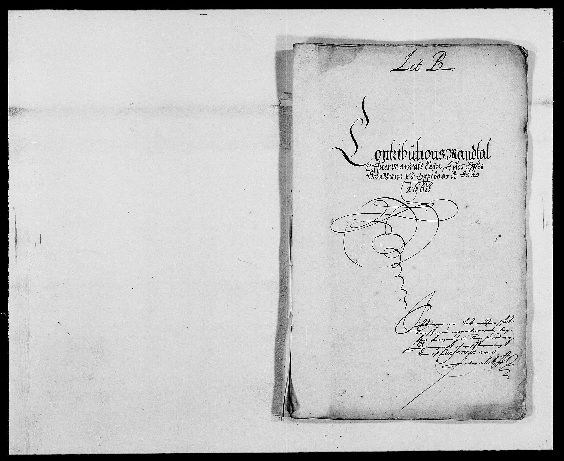 RA, Rentekammeret inntil 1814, Reviderte regnskaper, Fogderegnskap, R42/L2537: Mandal fogderi, 1664-1666, s. 209