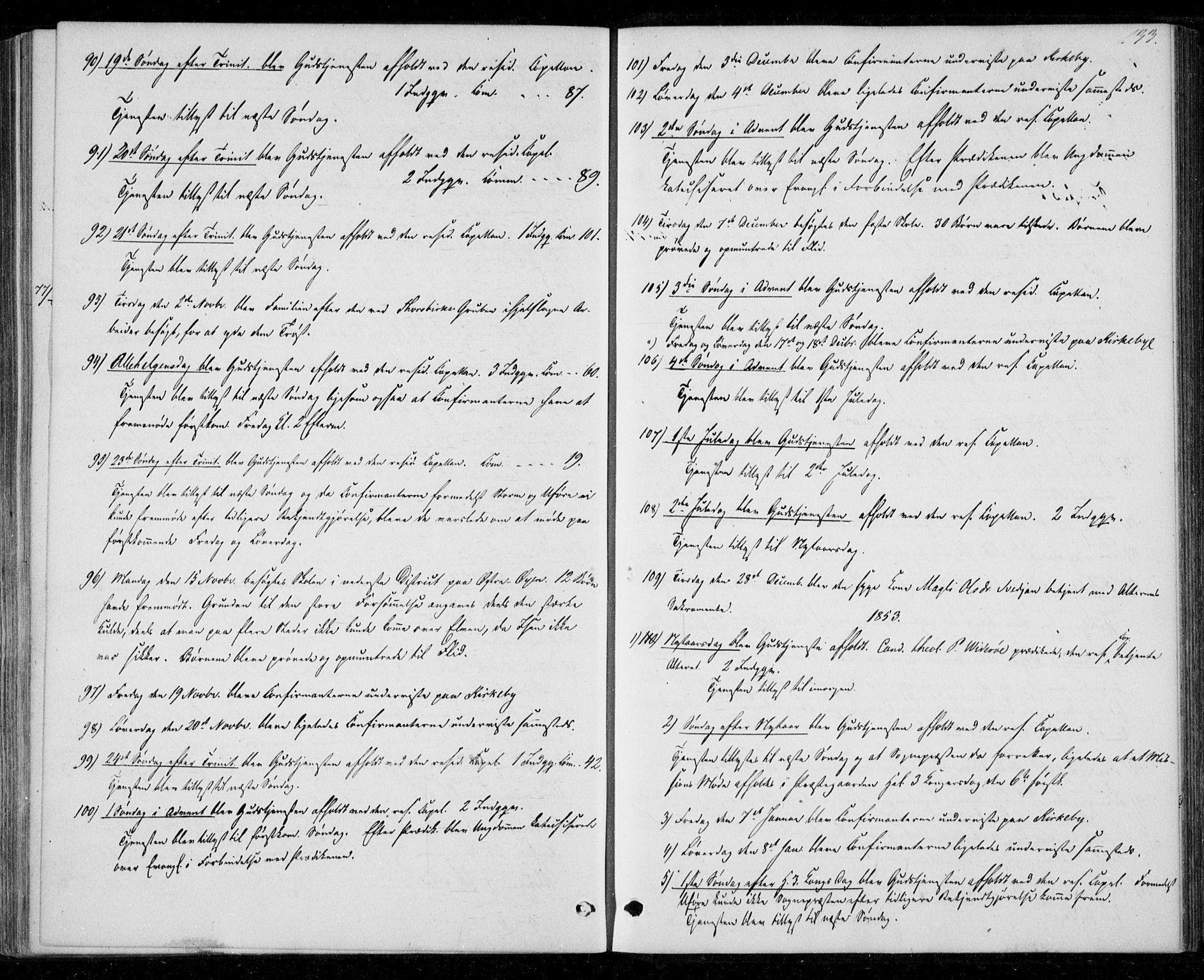 SAT, Ministerialprotokoller, klokkerbøker og fødselsregistre - Nord-Trøndelag, 706/L0040: Ministerialbok nr. 706A01, 1850-1861, s. 133